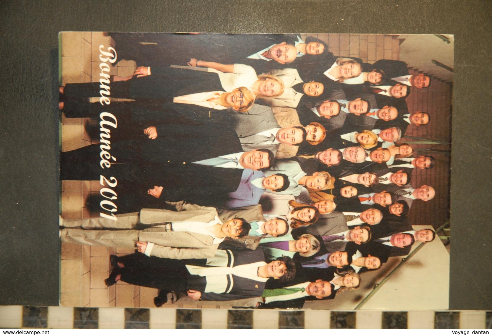 CP, 92, LEVALLOIS PERRET, Patrick Balkany, Voeux 2001 - Levallois Perret