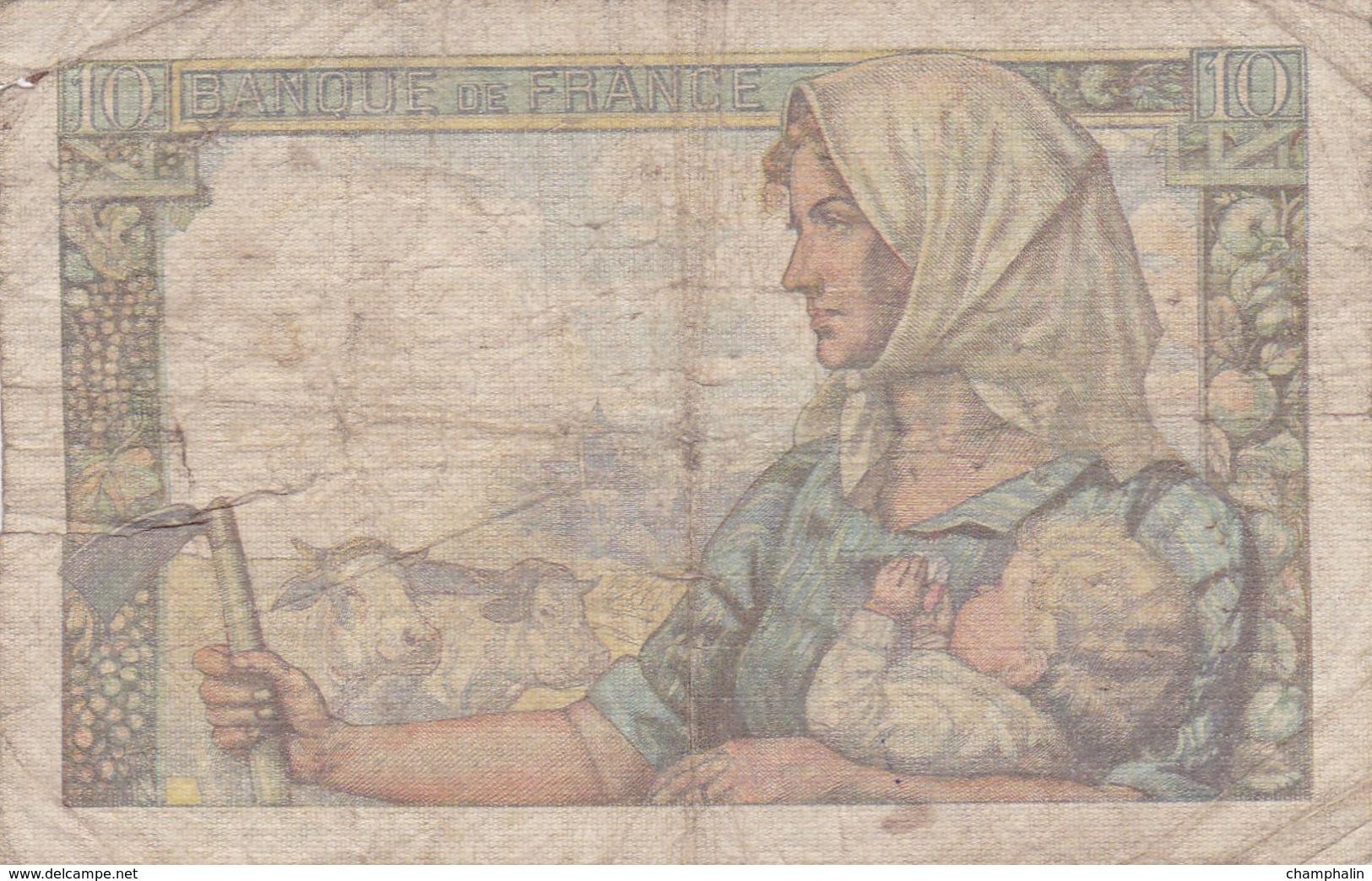 France - Billet De 10 Francs Type Mineur - 26 Novembre 1942 - 1871-1952 Antichi Franchi Circolanti Nel XX Secolo