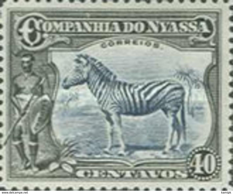 MINT  STAMPS Mozambique Nyassa - Zebra -  1921 - Mozambique
