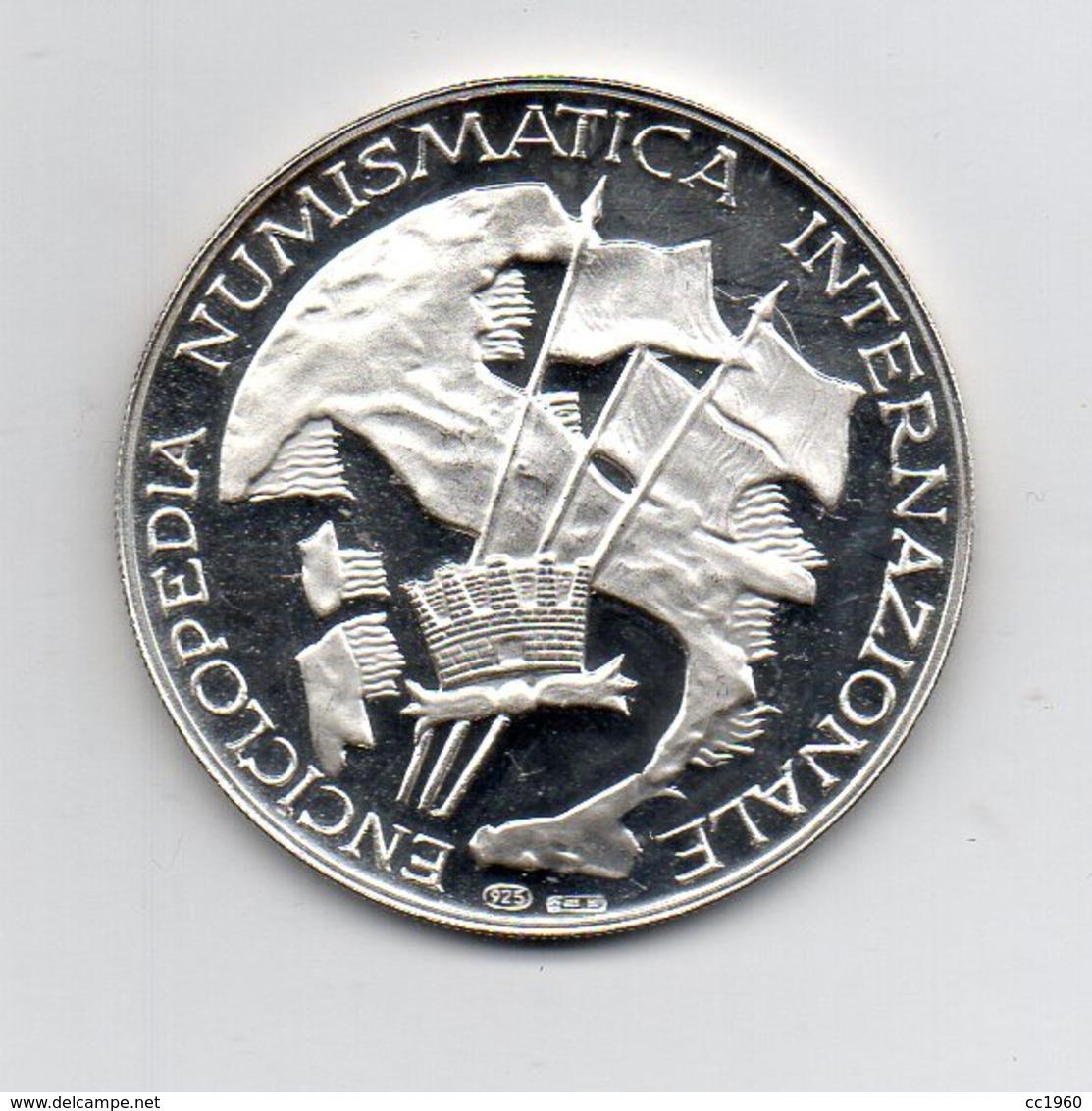 Italia - Medaglia  - ENCICLOPEDIA NUMISMATICA INTERNAZIONALE - Leonardo Da Vinci - Argento 925 - (MW2277) - Otros