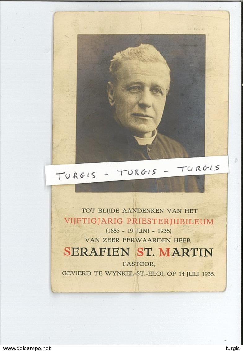 E H SERAFIEN ST. MARTIN 50 JAAR JUBILEUM ° PERVIJZE 1860 MARIALOOP LEFFINGE ROESELARE OESELGEM SINT-ELOOIS-WINKEL - Andachtsbilder