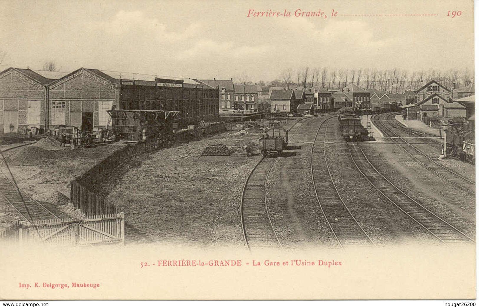 Lot De 3 CP La Gare   Ferriere La Grande - France