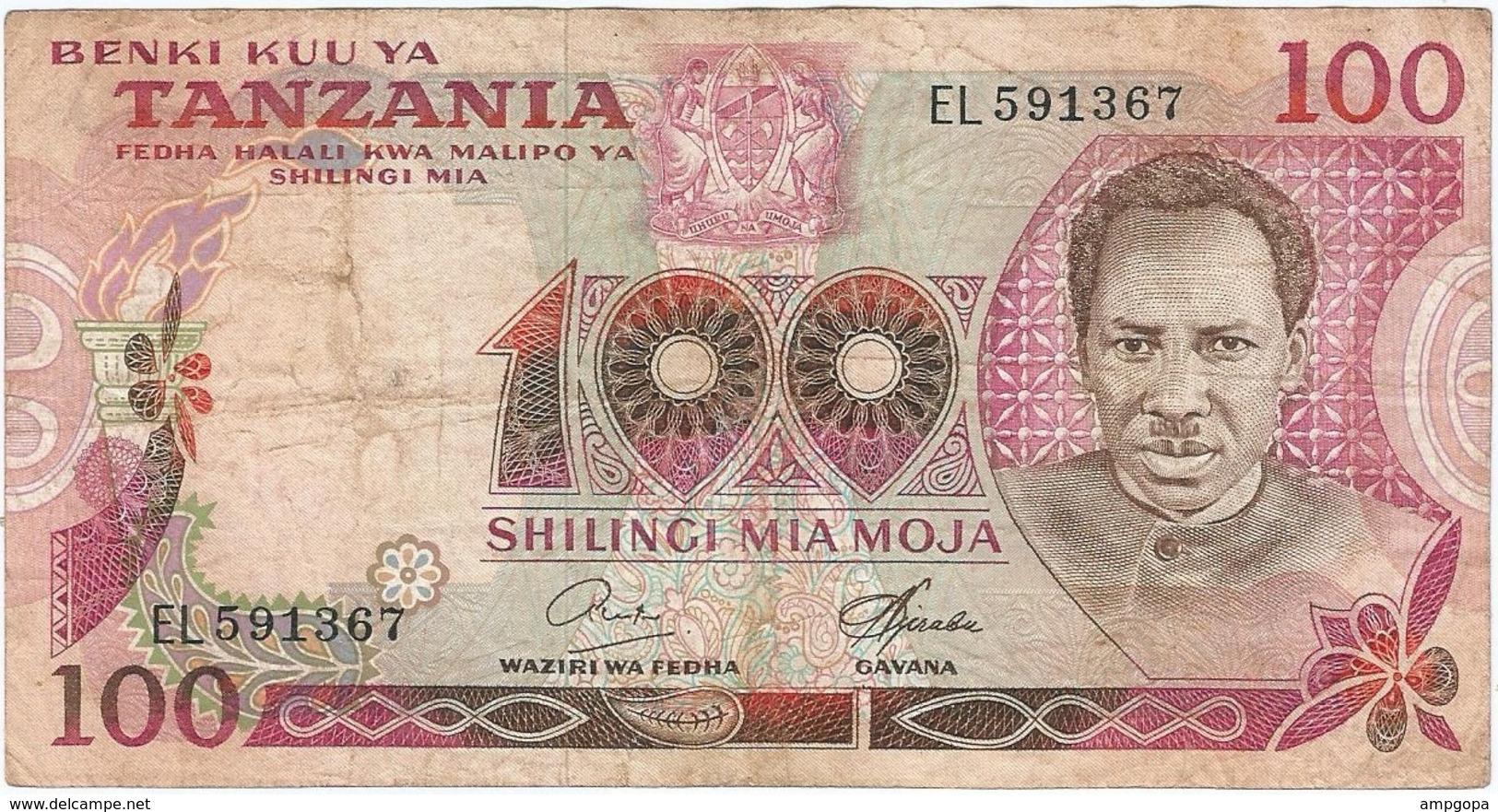 Tanzania 100 Shilingi 1978 Pk 8 C Firma 6 Ref 3 - Tanzania