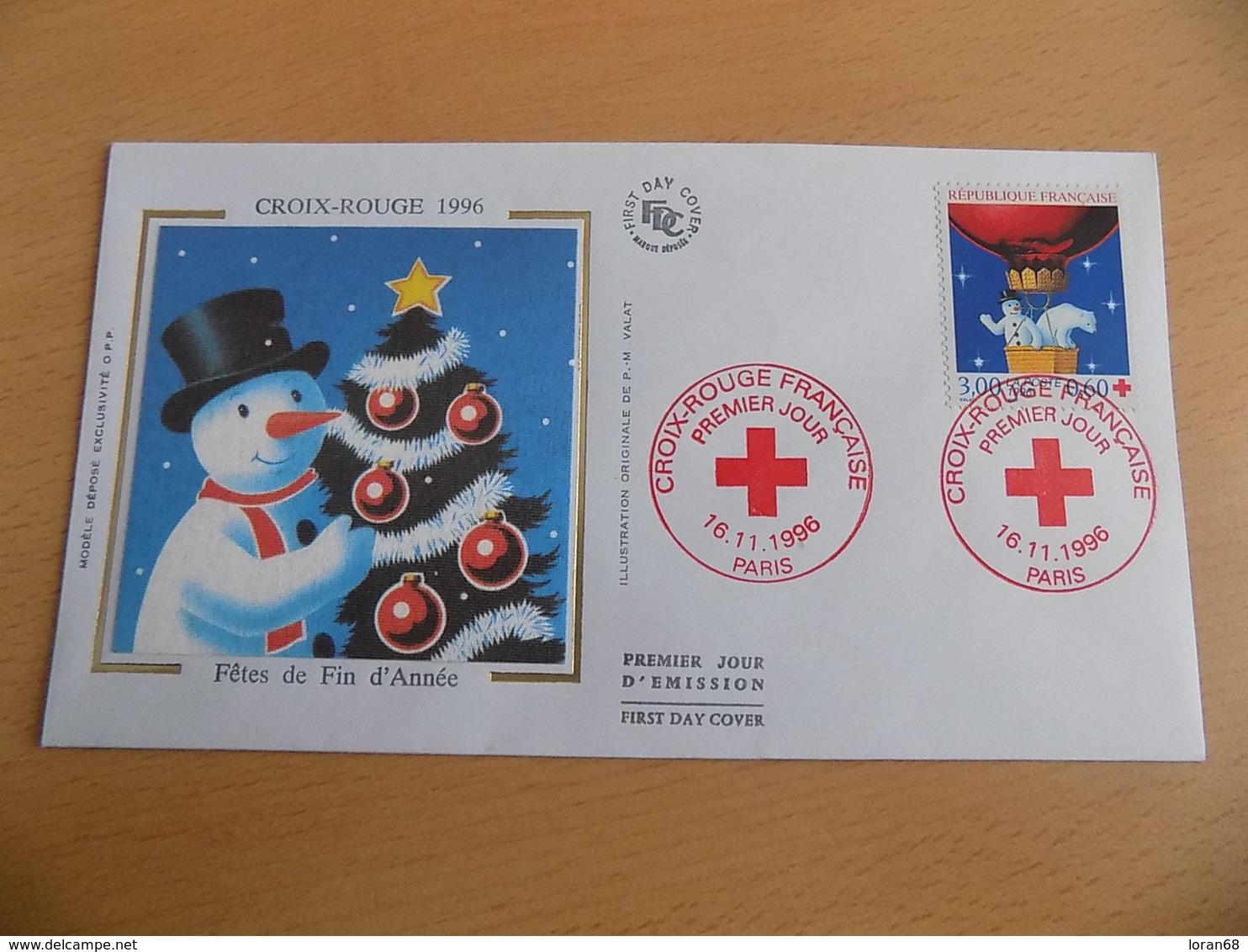 FDC France : Croix Rouge 1996 - Paris 16/11/1996 - 1990-1999