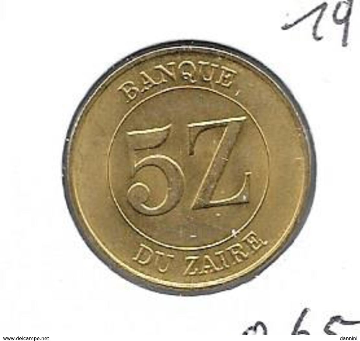 Zaïre - 5 Zaires - 1987 - KM 14 - Zaire (1971-97)