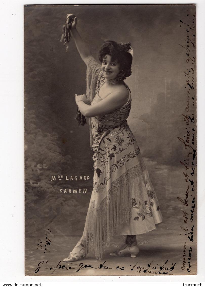 264 -  M. LAGARD  - Comédienne Dans CARMEN  *théâtre* - Artistes