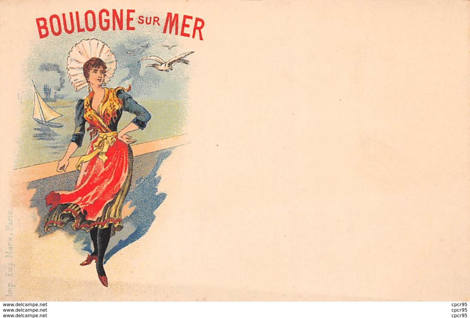 62 . N° 51407 . Boulogne Sur Mer . Illustrateur.cp Pub - Boulogne Sur Mer