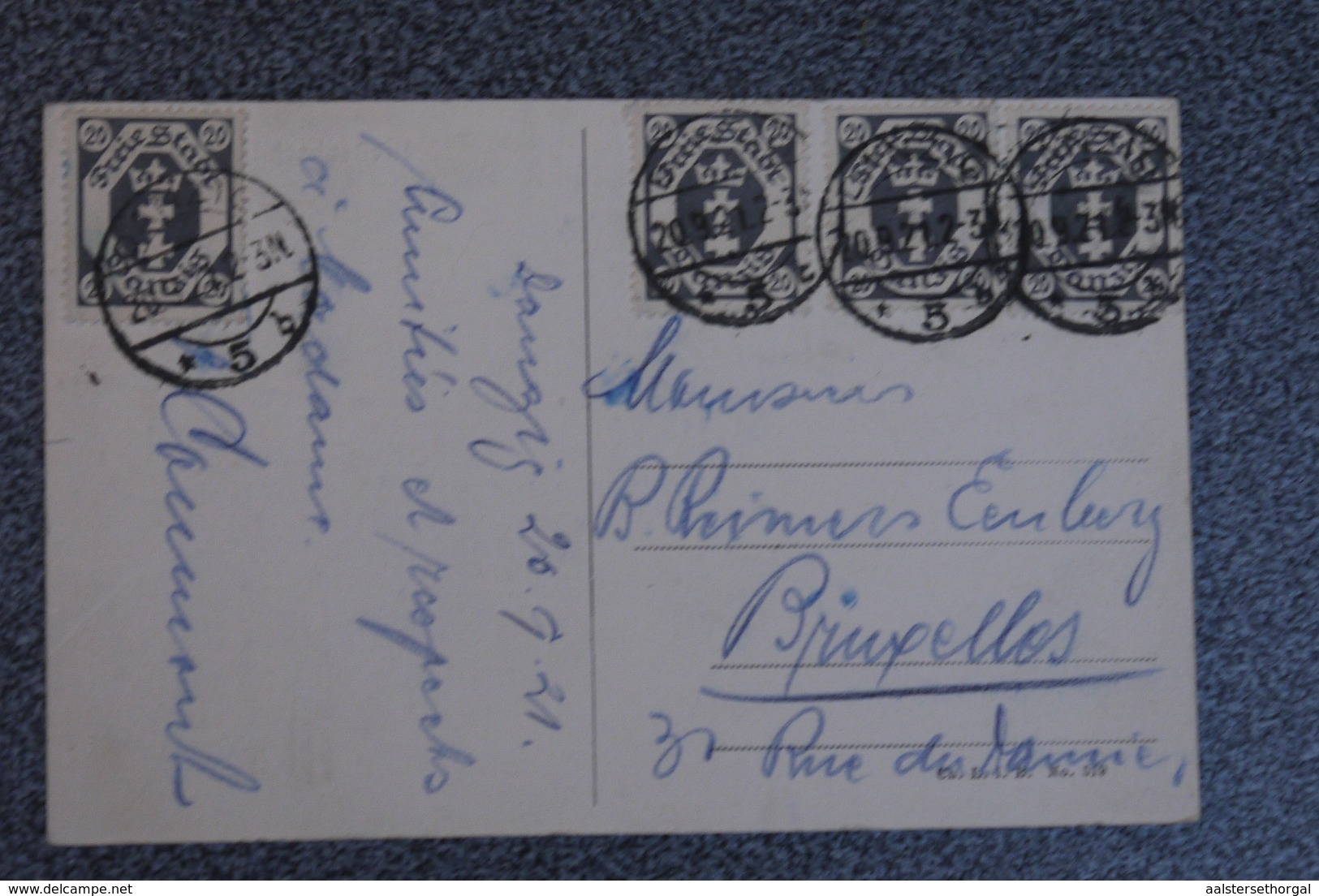 Danzig  Cpa Pk Breitenbach Brucke 1921 - Danzig