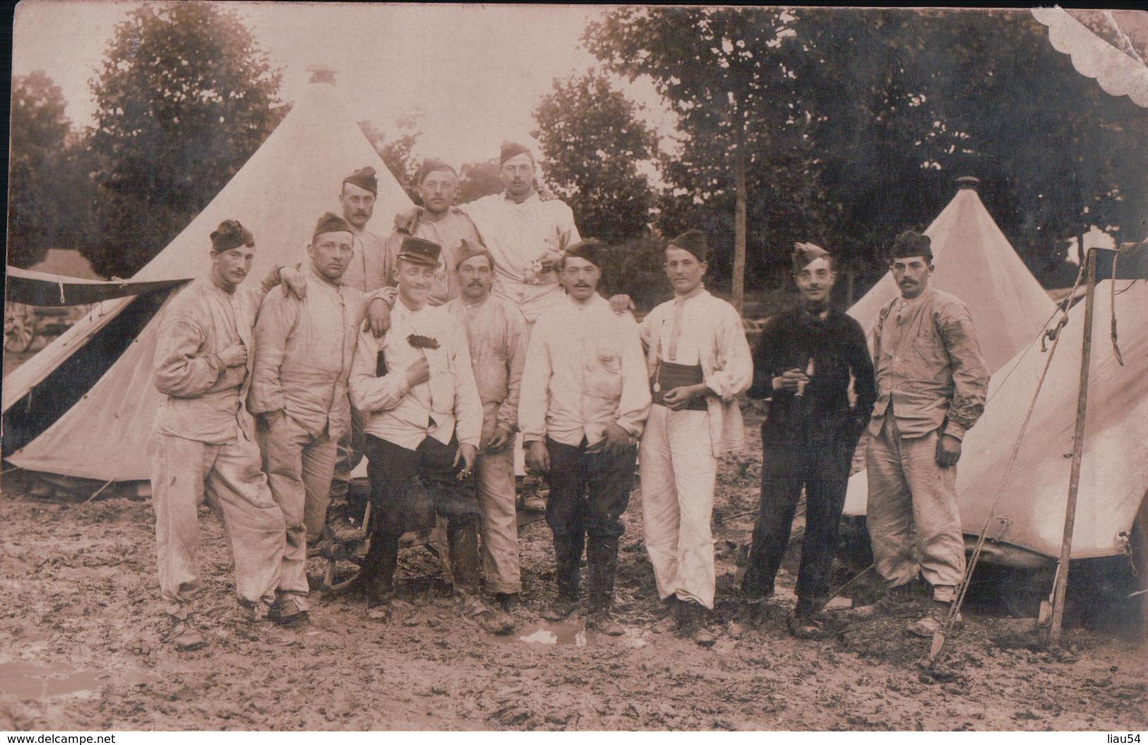 CARTE PHOTO JOINVILLE Militaires Le 30 7 1913 Pour Monsieur Dieudonné Boucher à THAON 88 - Joinville