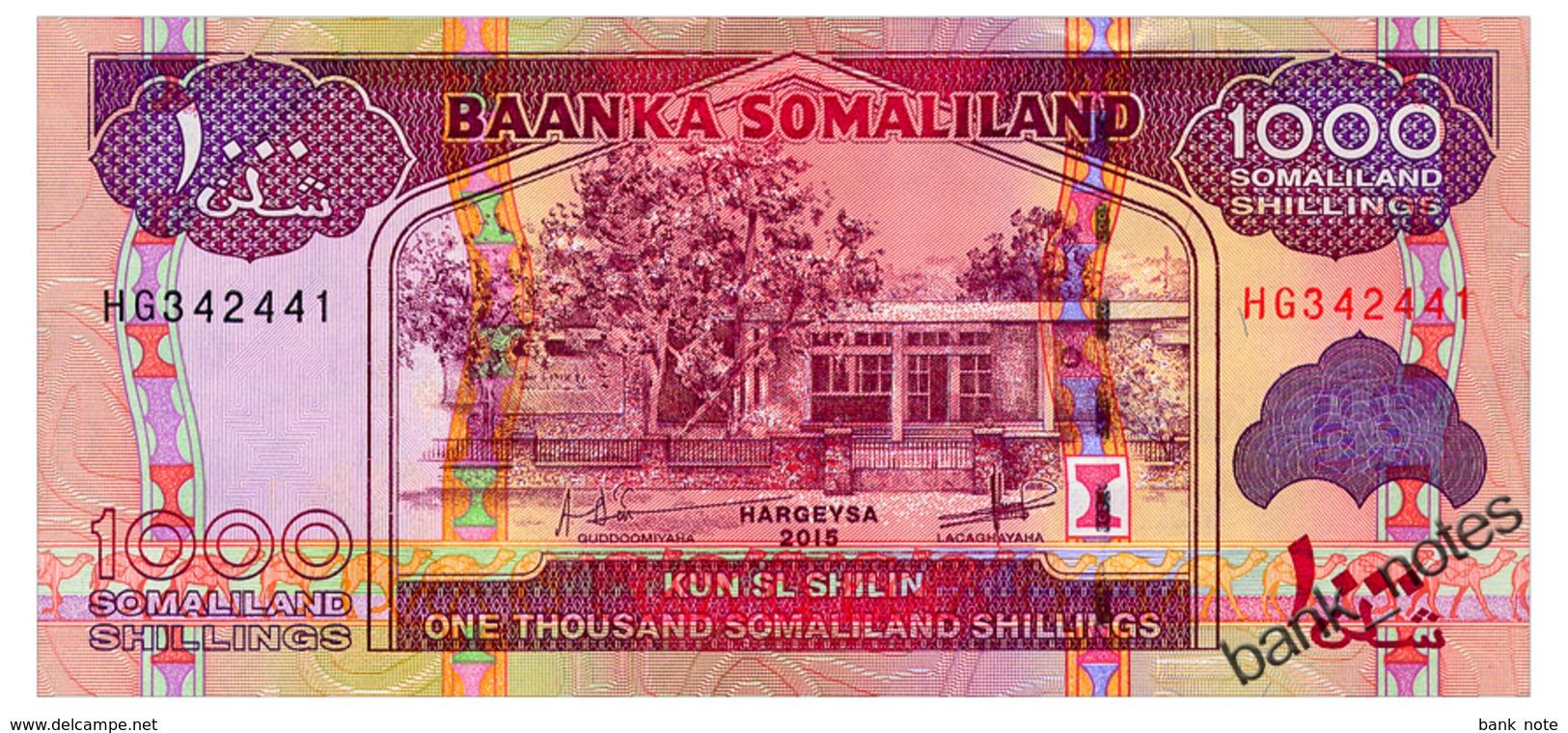 SOMALILAND 1000 SHILLINGS 2015 Pick 20 Unc - Somalie