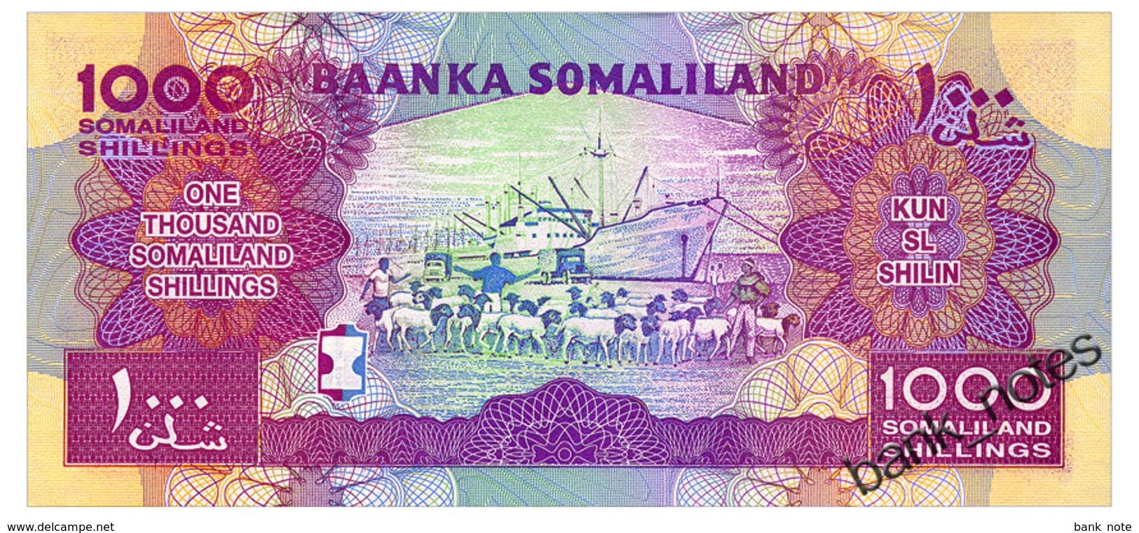 SOMALILAND 1000 SHILLINGS 2015 Pick 20 Unc - Somalia
