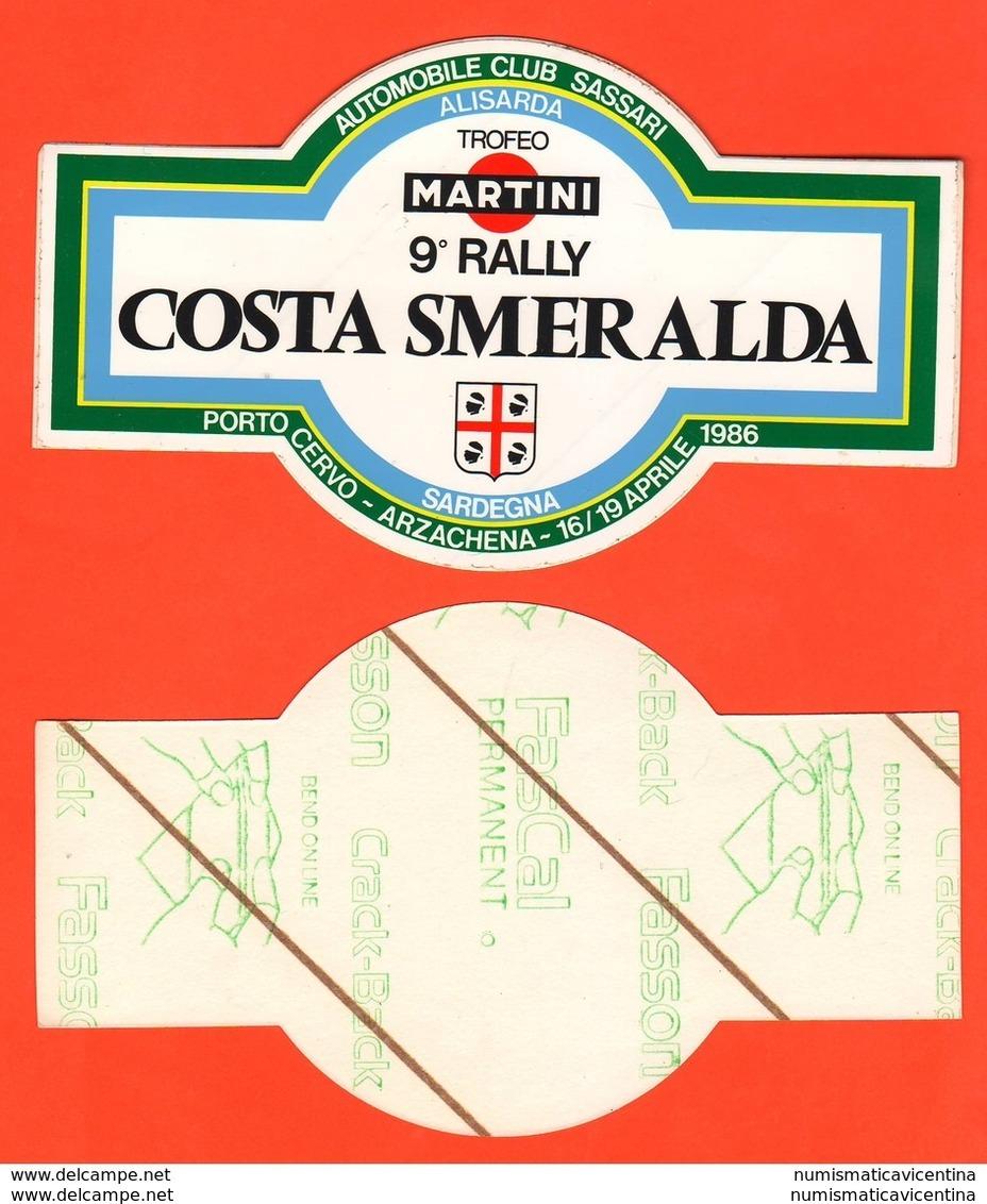 Auto Cars Rally Costa Smeralda Sardegna 1986 Adesivo  9°edizione Porto Cervo Arzachena - Stickers