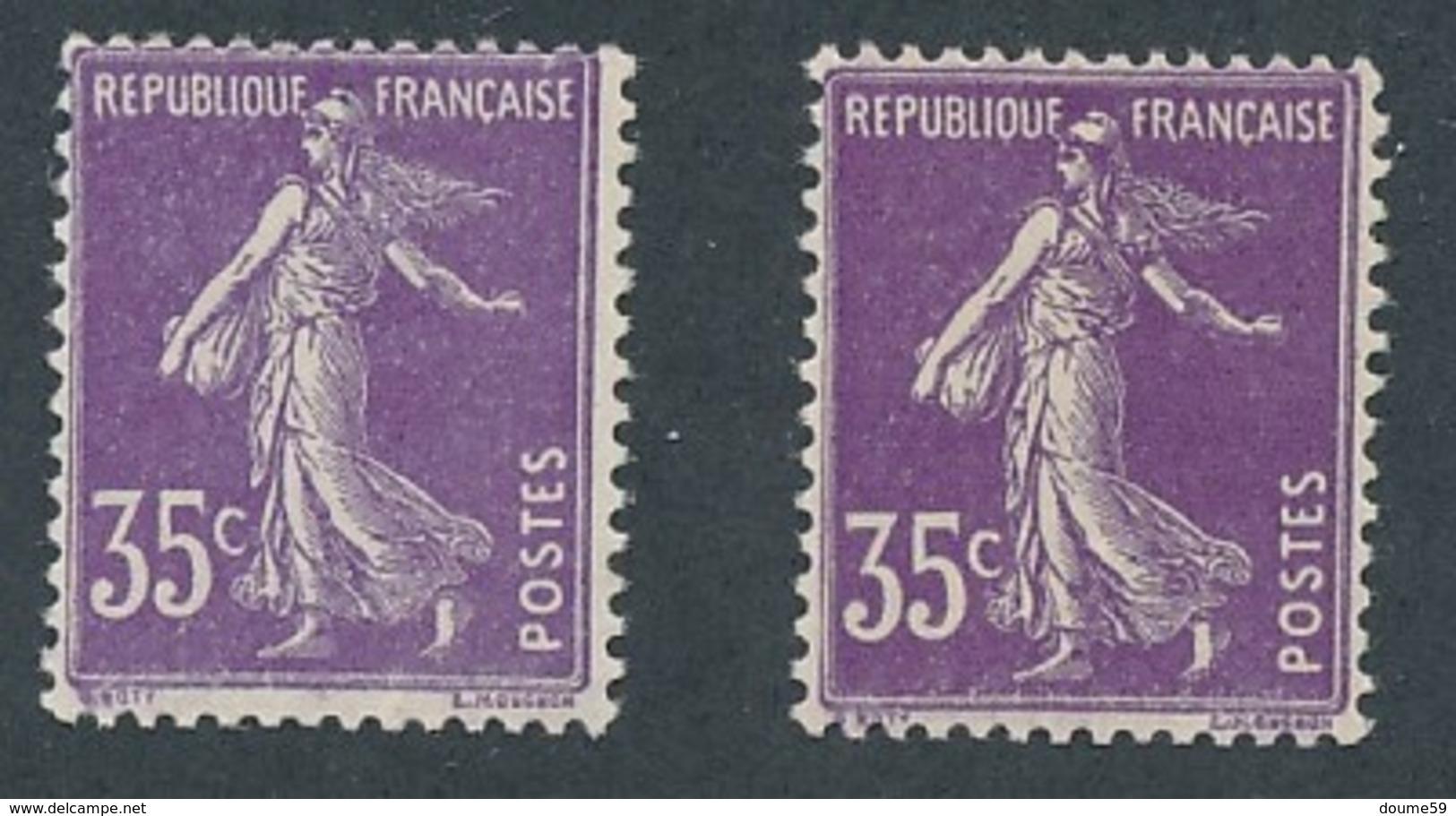 CR-91: FRANCE: Lot Avec N°142b**-142b* - 1906-38 Sower - Cameo