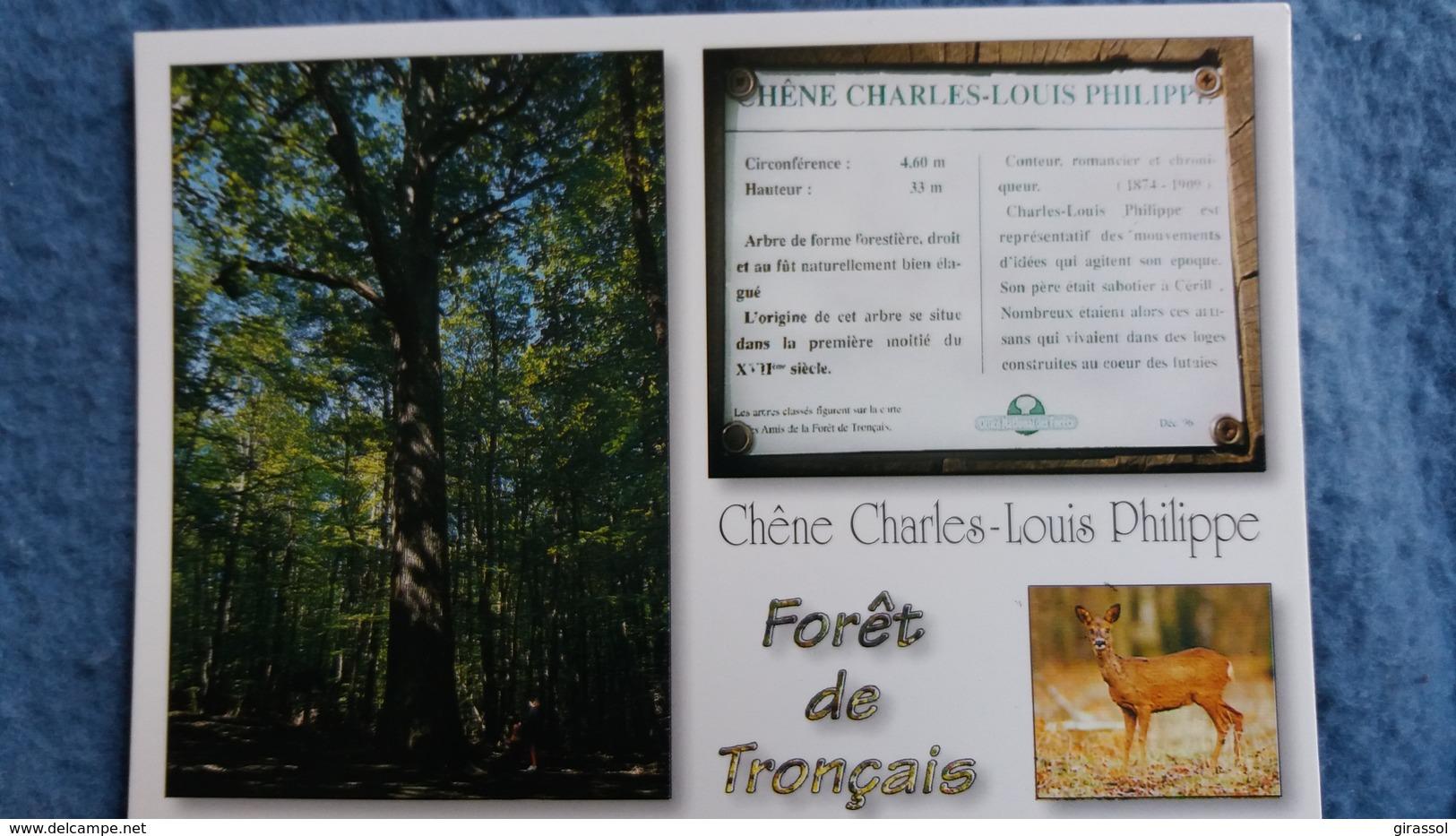 CPM ARBRE FORET DE TRONCAIS LE CHENE CHARLES LOUIS PHILIPPE  BICHE ED DU LYS - Arbres