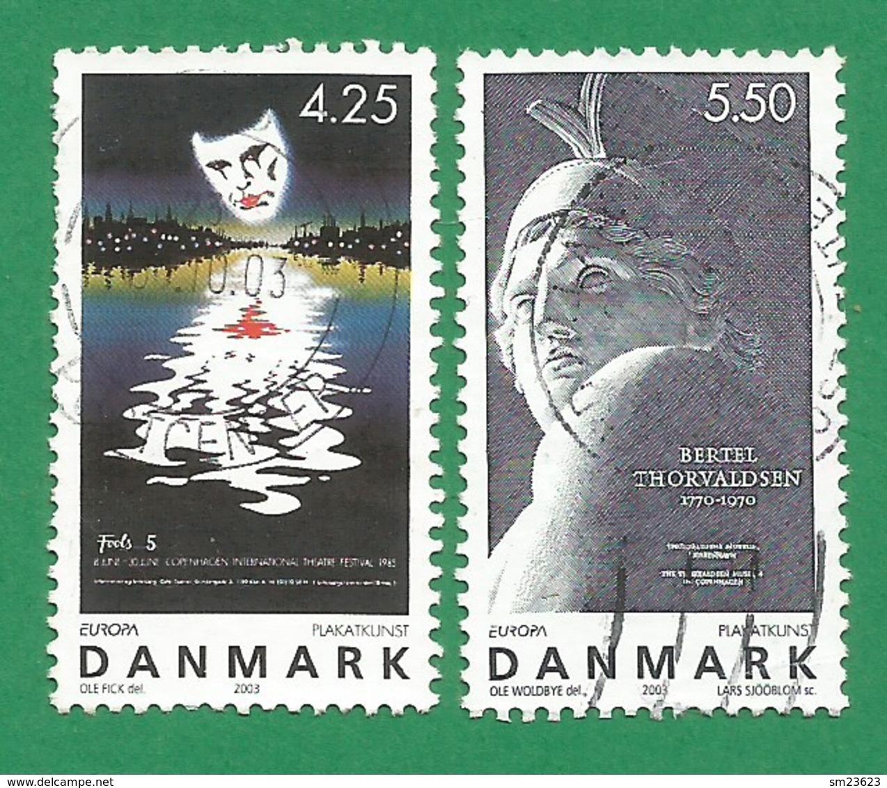 Dänemark   2003   Mi.Nr. 1341 / 1342 , EUROPA CEPT - Plakatkunst - Gestempelt / Fine Used / (o) - Europa-CEPT