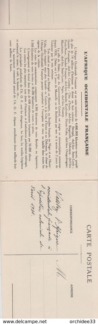 CPA Exposition Coloniale De Paris 1931 - Visitez L'A. O. F. - Abomey (Dahomey) / Dakar (Sénégal) / Carte (à 3 Volets) - Ausstellungen