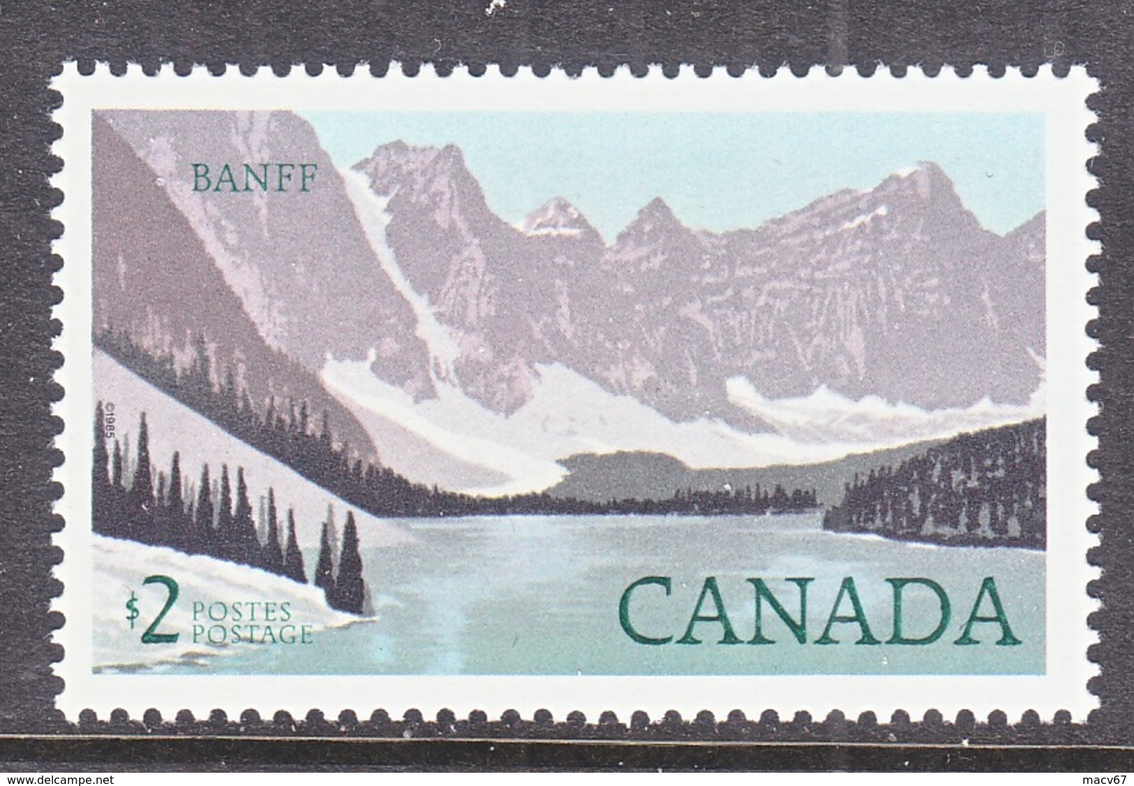 CANADA  936  AT FACE VALUE  **  BANFF  NATL.  PARK - 1952-.... Reign Of Elizabeth II