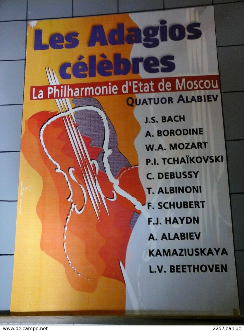 Affiches - Les Adagios Célèbres Philharmonie D'Etat De Moscou - Plakate & Poster