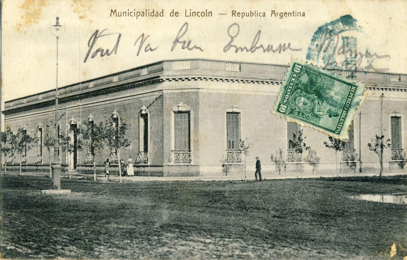 MUNICIPALIDAD  De  LINCOLN,  REPUBLICA  ARGENTINA - Argentinië