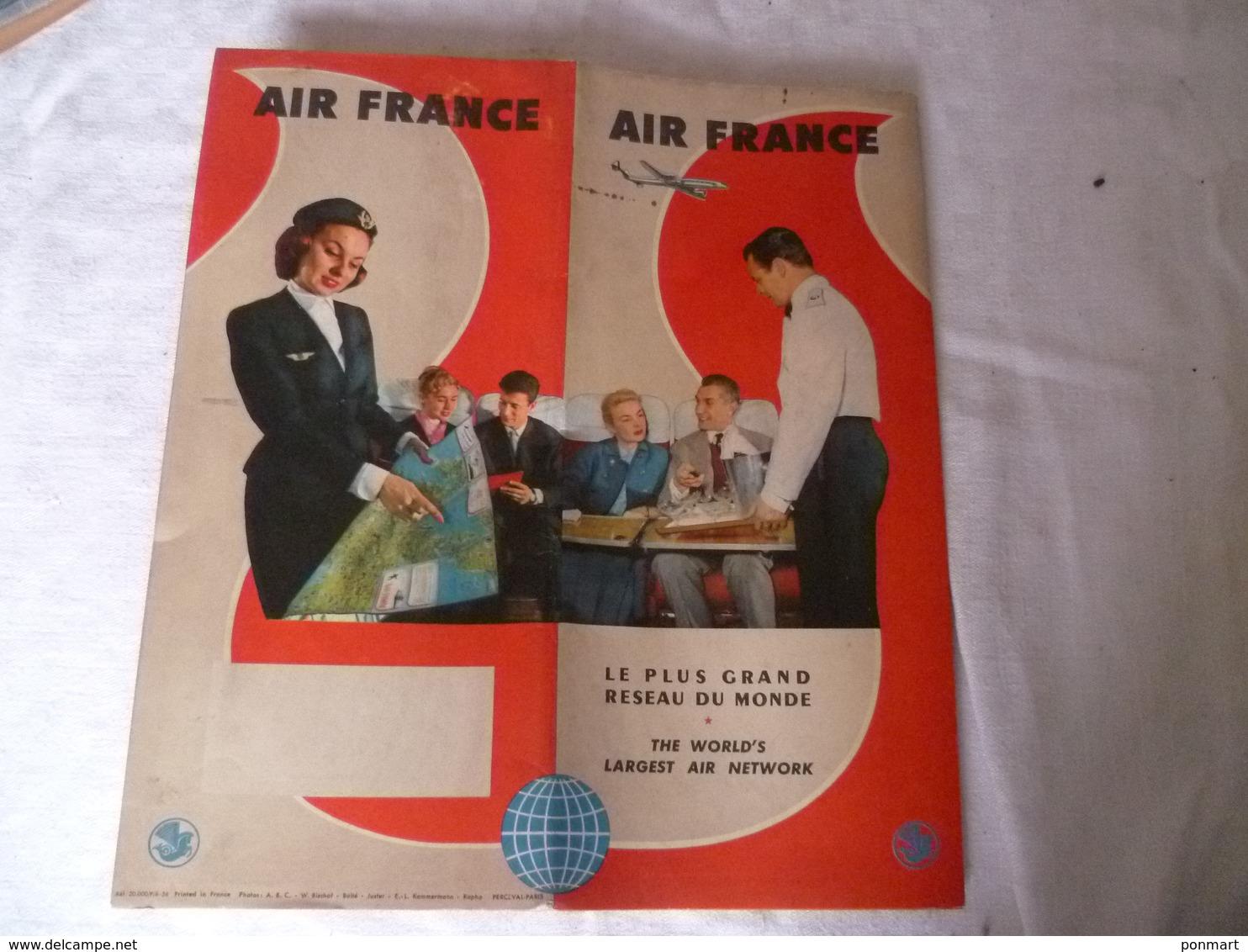 Livret Air France   , Avions , Années 50 Environ - Publicités