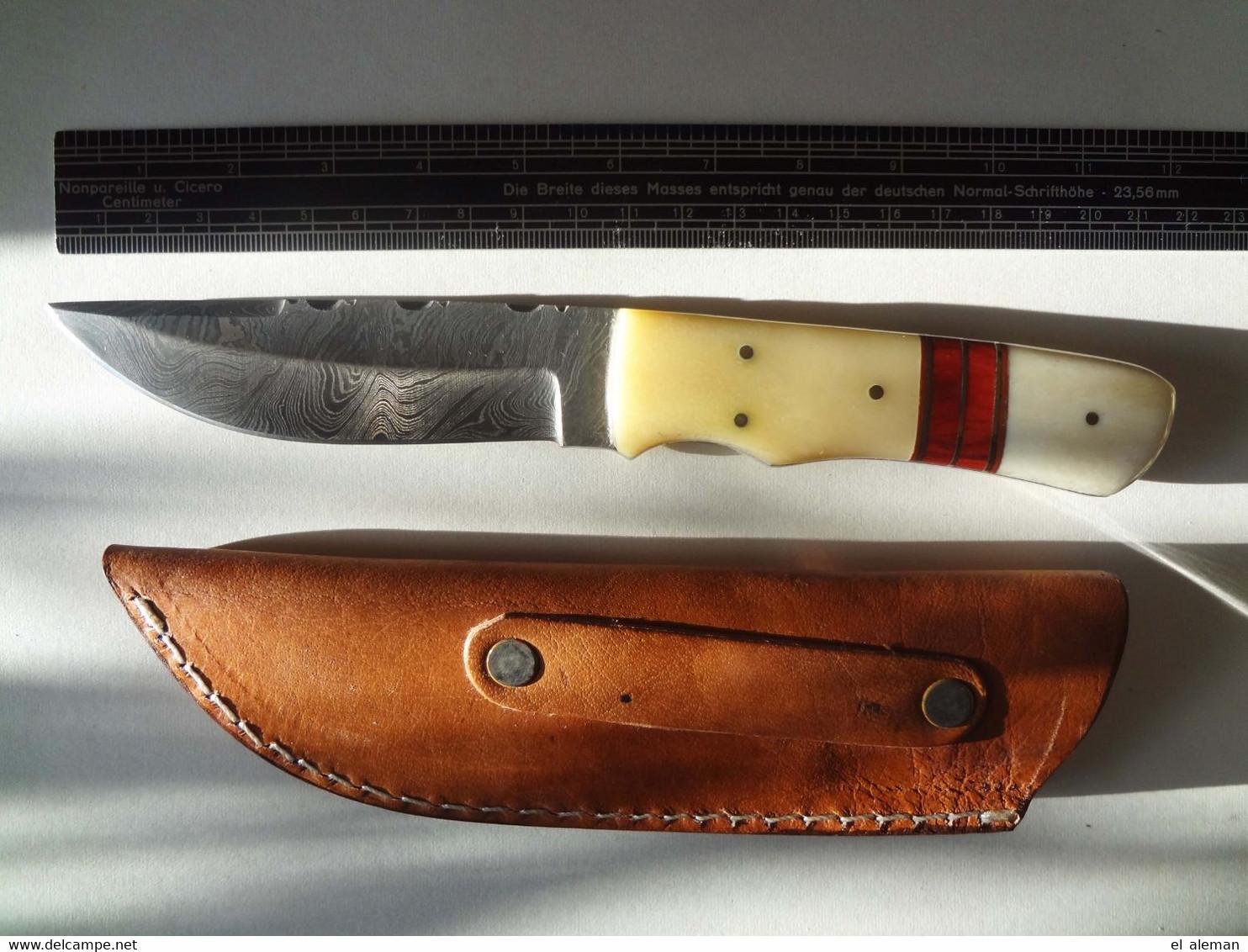 Messer, Damastmesser, Bowiemesser, Jagdmesser,neu. Real Damask Knife,bowie Knife,hunting Knife,new - Messer
