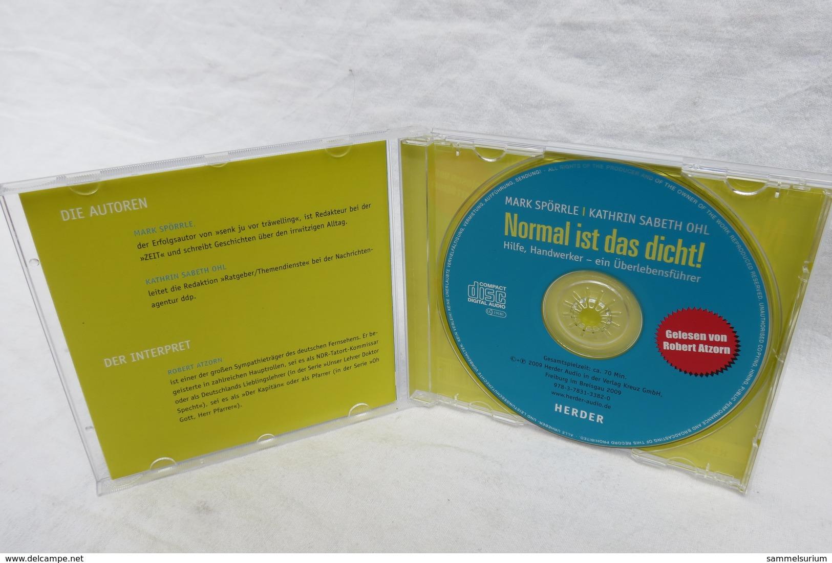 """CD """"Normal Ist Das Dicht!"""" Mark Spörrle/Kathrin Sabeth Ohl, Hilfe, Handwerker - Ein Überlebensführer - Humor, Cabaret"""