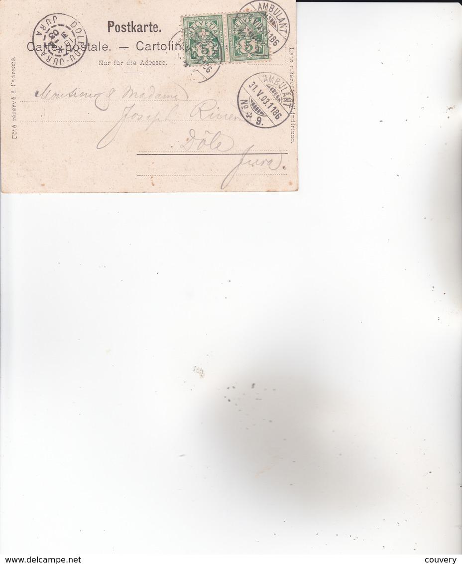 CPA SUISSE ,CORCELLES. (animée...) 1903. - NE Neuchâtel