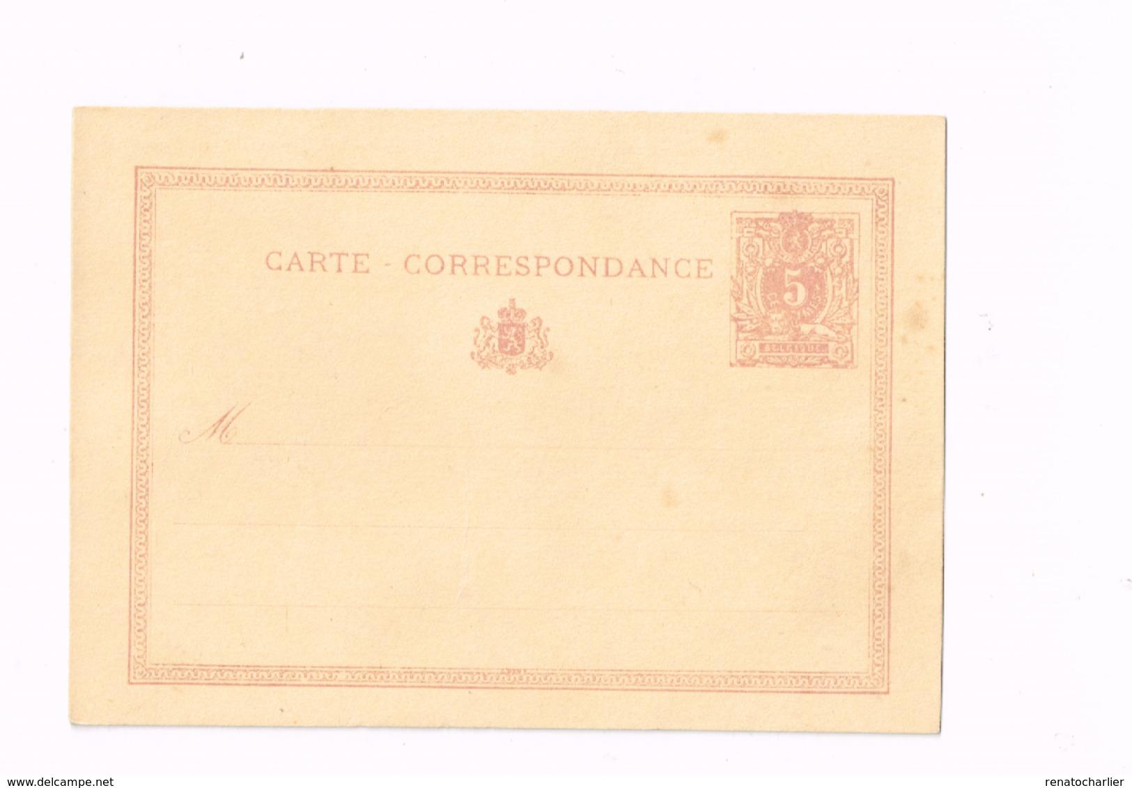 """Entier Postal à 5 Centimes.""""Lion Couché"""" - Postwaardestukken"""