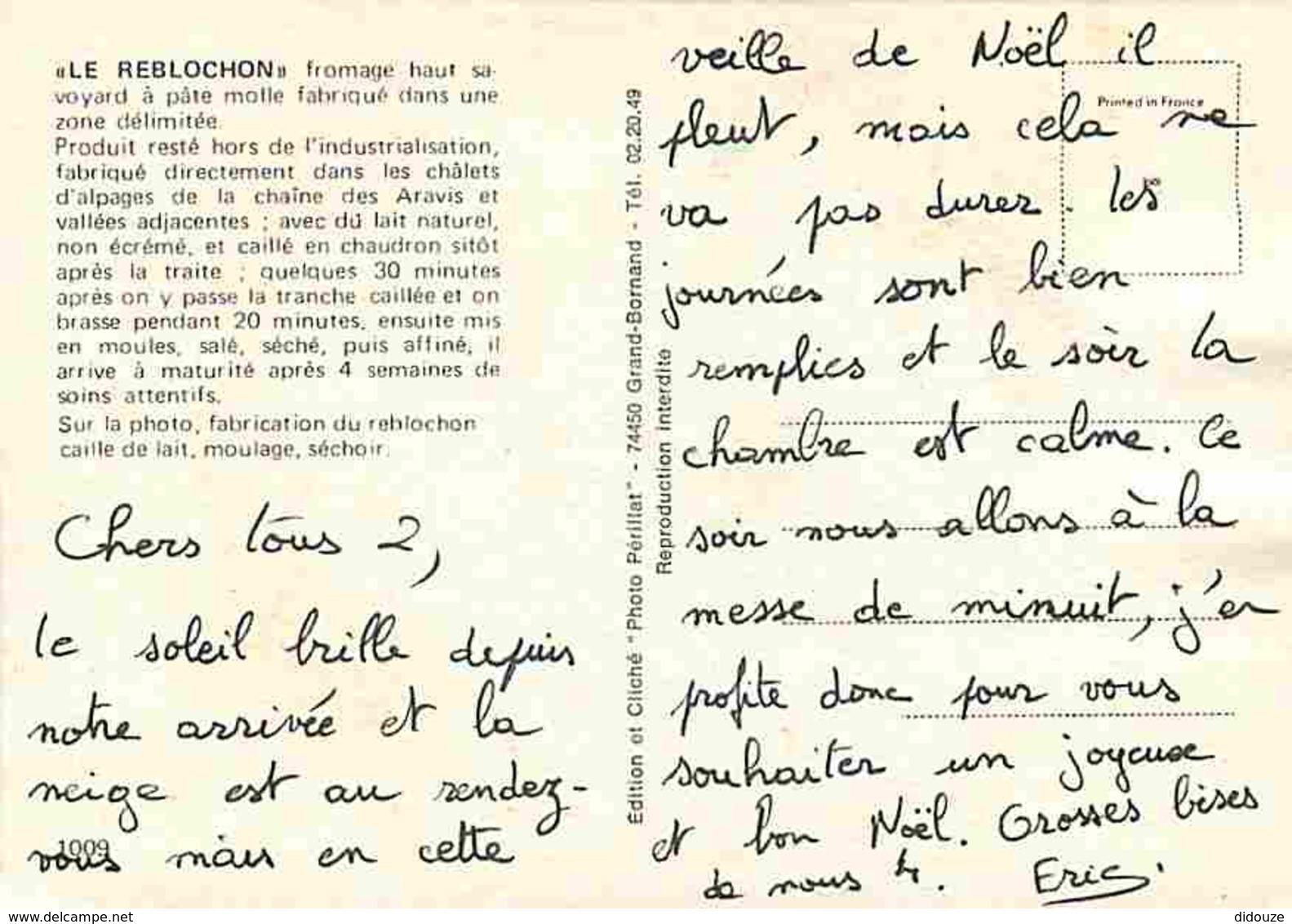 74 - Haute Savoie - Le Reblochon - Fabrication - Caille De Lait - Moulage - Séchoir - Fromagerie - Fromages - Voir Scans - France