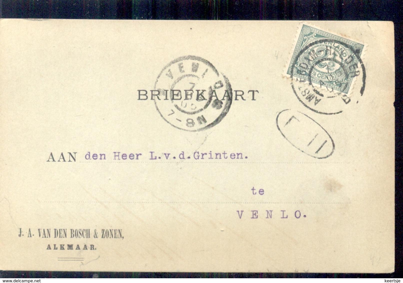 Alkmaar - J SA Van Den Bosch & Zonen - 1905 - 1891-1948 (Wilhelmine)