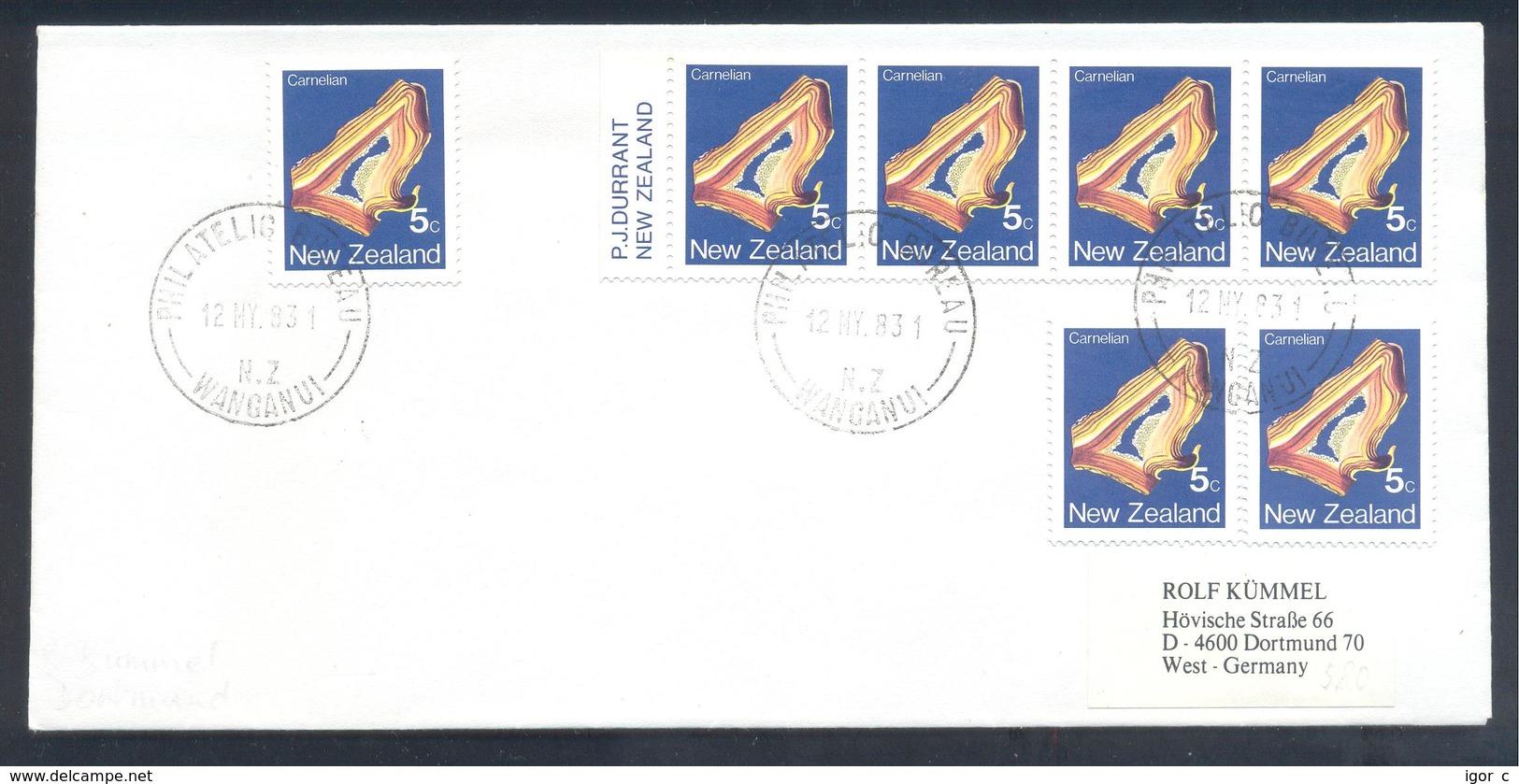 New Zealand 1983 Cover: Minerals Mineralien Mineraux; Mining Bergbau; Carnelian, Cornelian - Mineralien