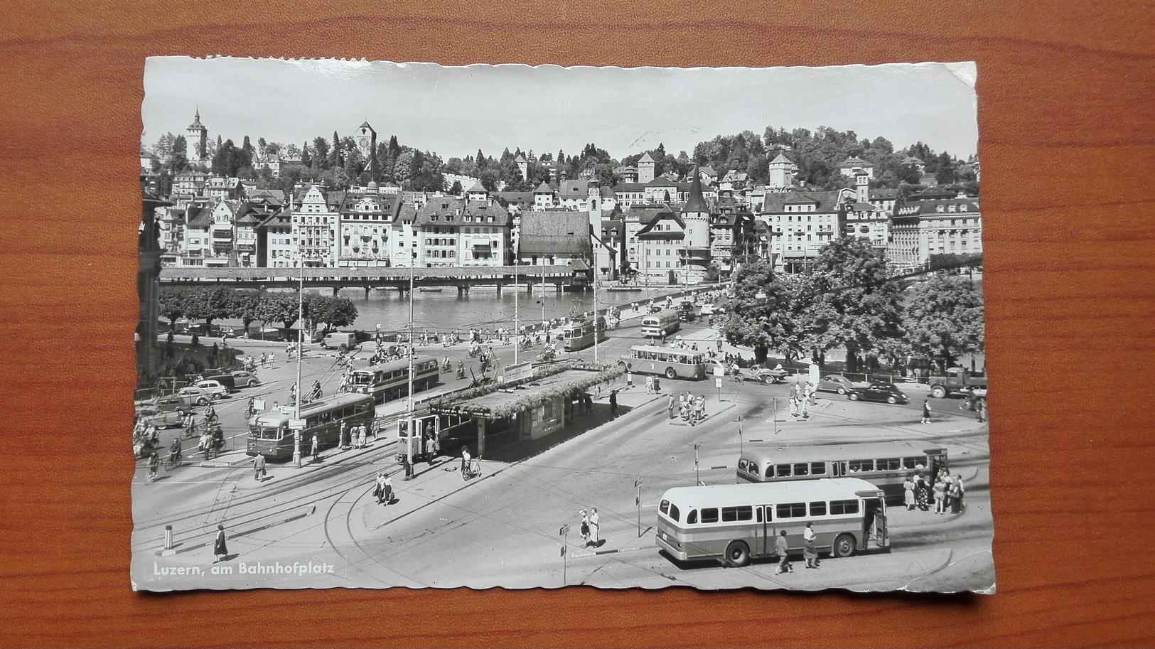 Luzern , Am Bahnhofplatz - LU Lucerne