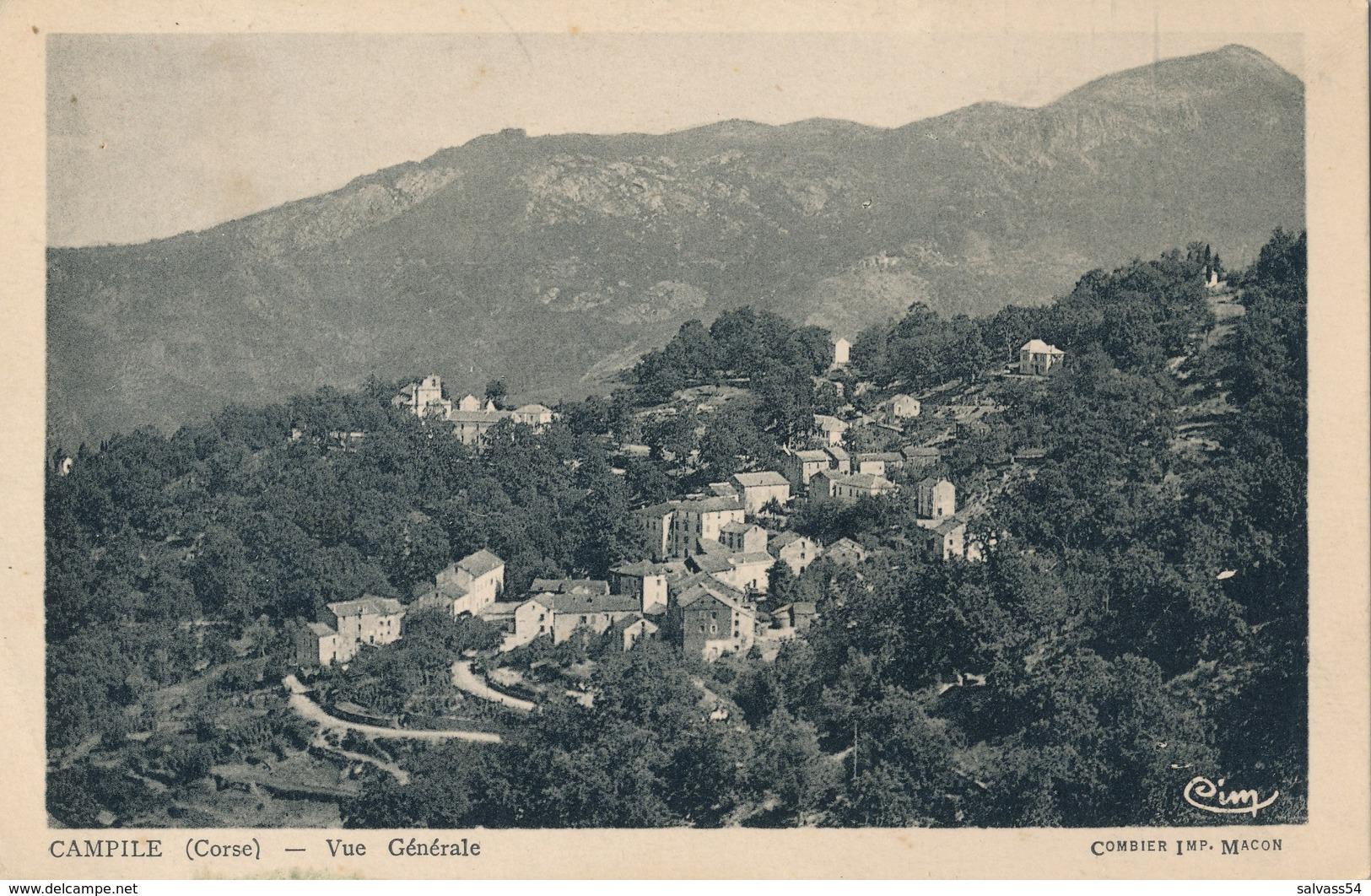 2B) CORSE : CAMPILE - Vue Générale Du Village (1940) - France