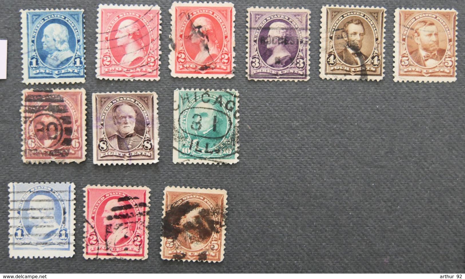 USA - ETATS UNIS D AMERIQUE - 1894  - YT 97 à 104 + 110 + 111 + 114 - PRESIDENTS - Gebraucht