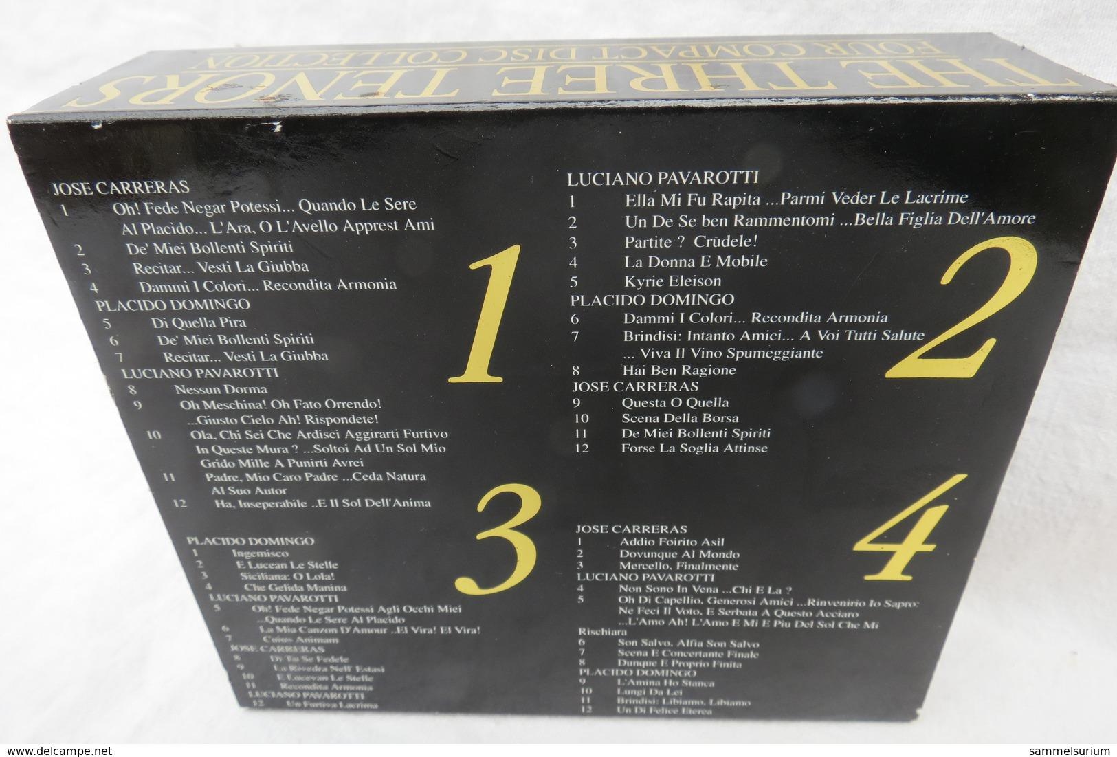 """4 CDs """"The Three Tenors"""" Jose Carreras, Luciano Pavarotti, Placido Domingo - Oper & Operette"""