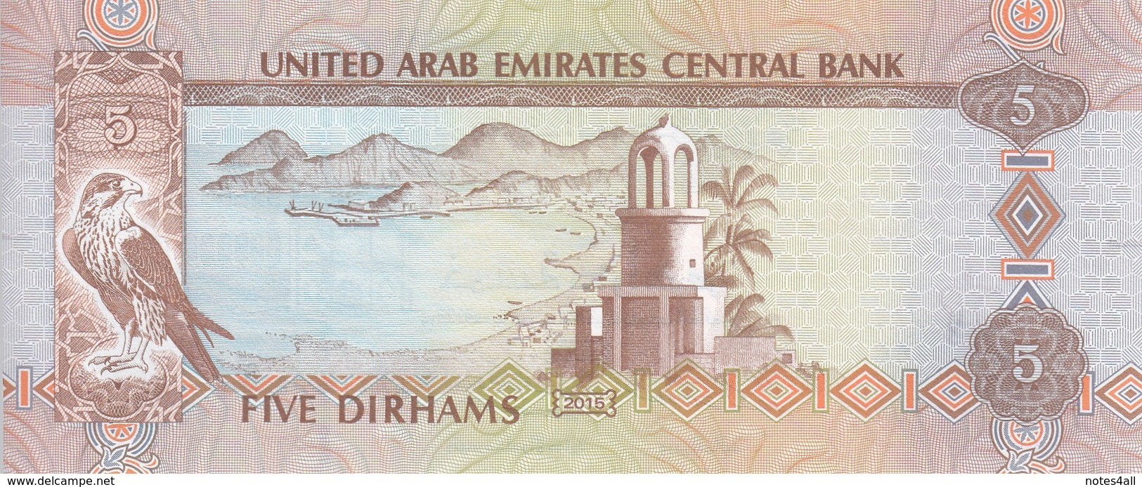 UAE UNITED ARAB EMIRATES 5 DIRHAMS 2015 P-26 UNC */* - United Arab Emirates