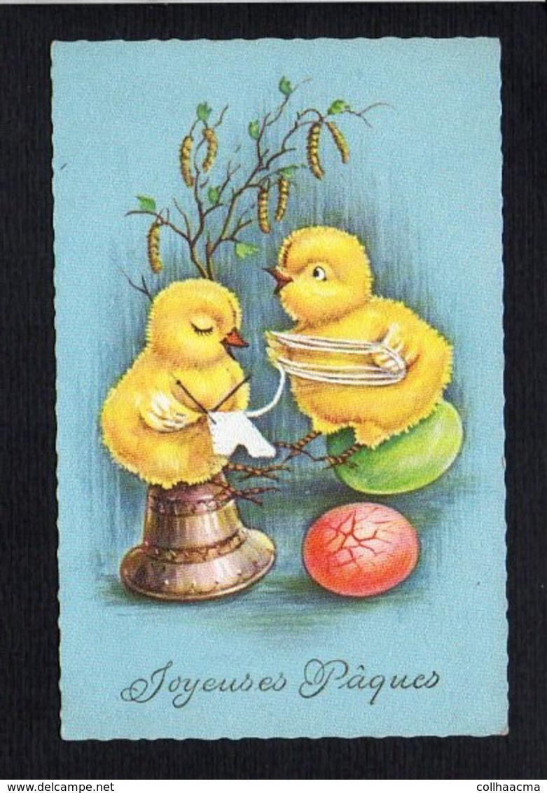 Fête Voeux  / Joyeuses,Heureuses Pâques / Poussins Humanisés,oeuf - Pâques