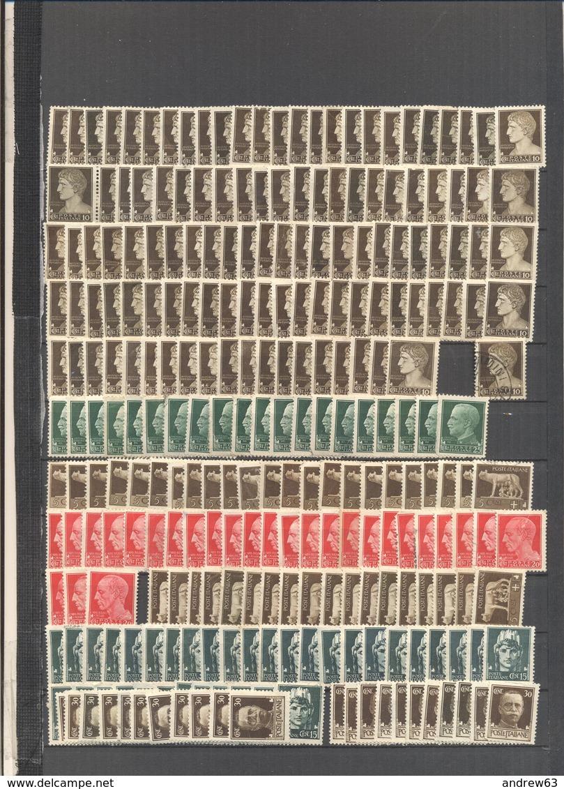 REGNO D'ITALIA - Lotto - Accumulo - Vrac - 250+ Francobolli 5, 10, 15, 20, 25, 30c Serie Imperiale - Usati (molti Non Ti - Francobolli