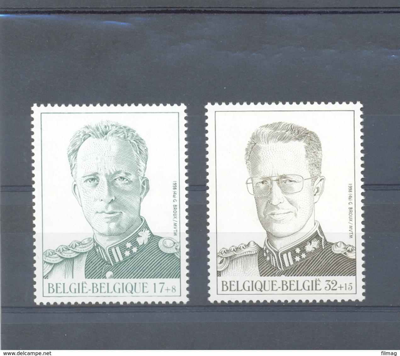 2738/39 Koning Leopold III En Boudewijn POSTFRIS** 1998 - Belgien