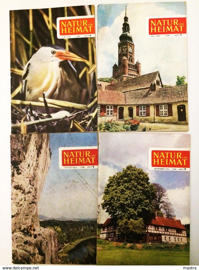 NATUR UND HEIMAT 8 Hefte 1962 Urania-Verlag Leipzig DDR - Ohne Zuordnung