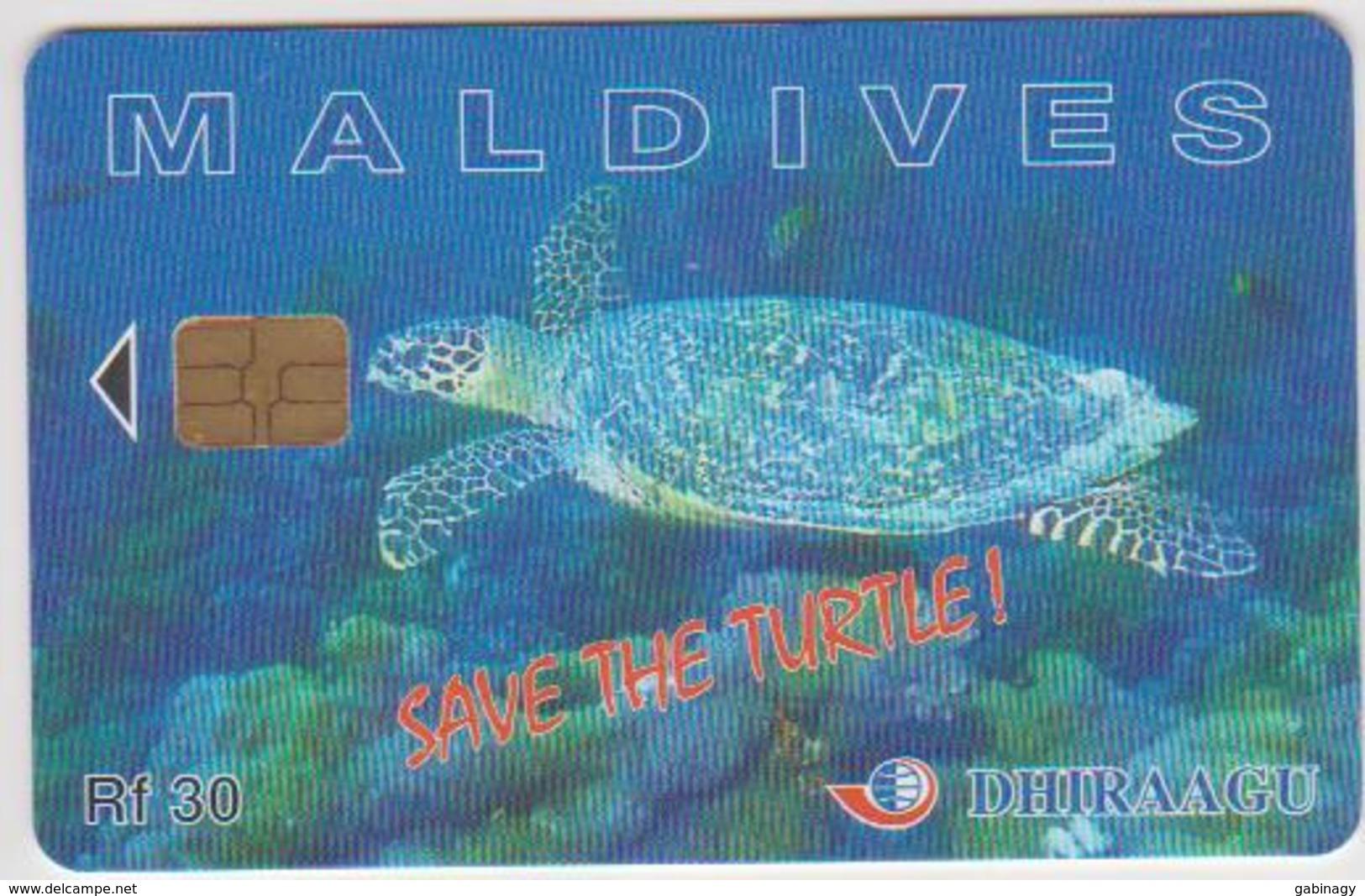 MALDIVES - TURTLE - 227MLDG - Maldiven