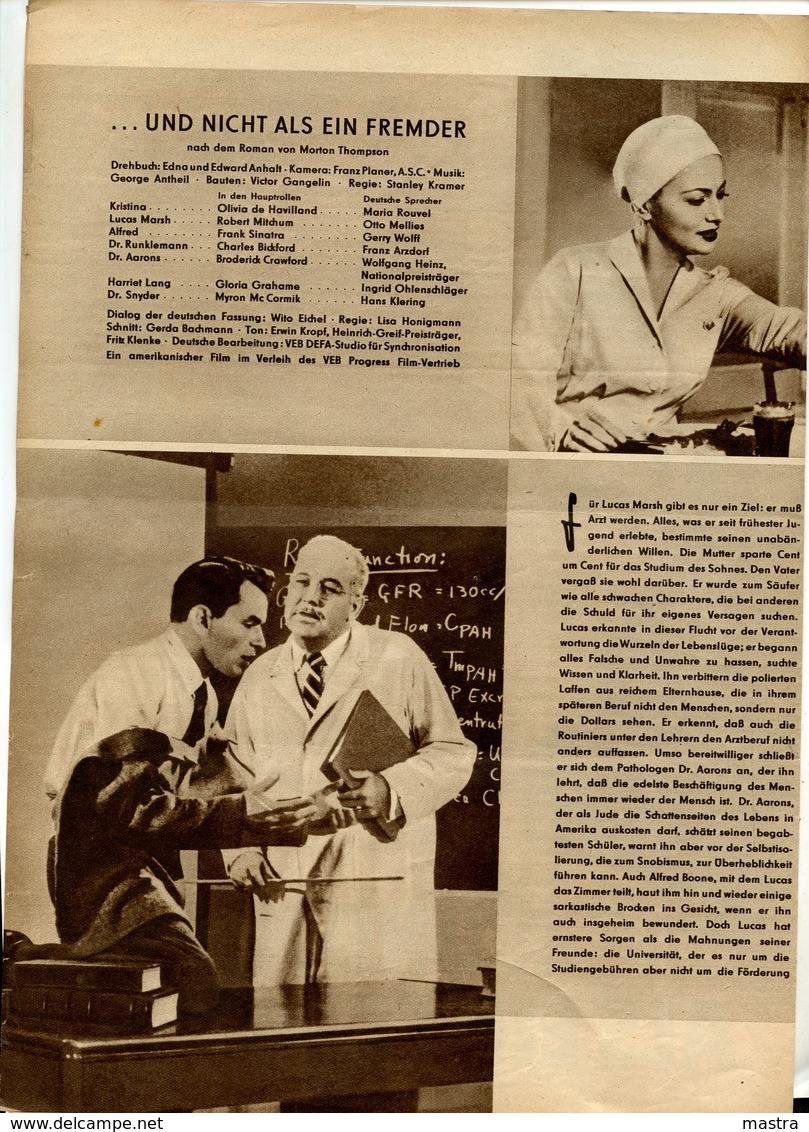 """FRANK SINATRA In STANLEY KRAMER Film """"NOT AS A STRANGER"""" 1955 - Film & TV"""