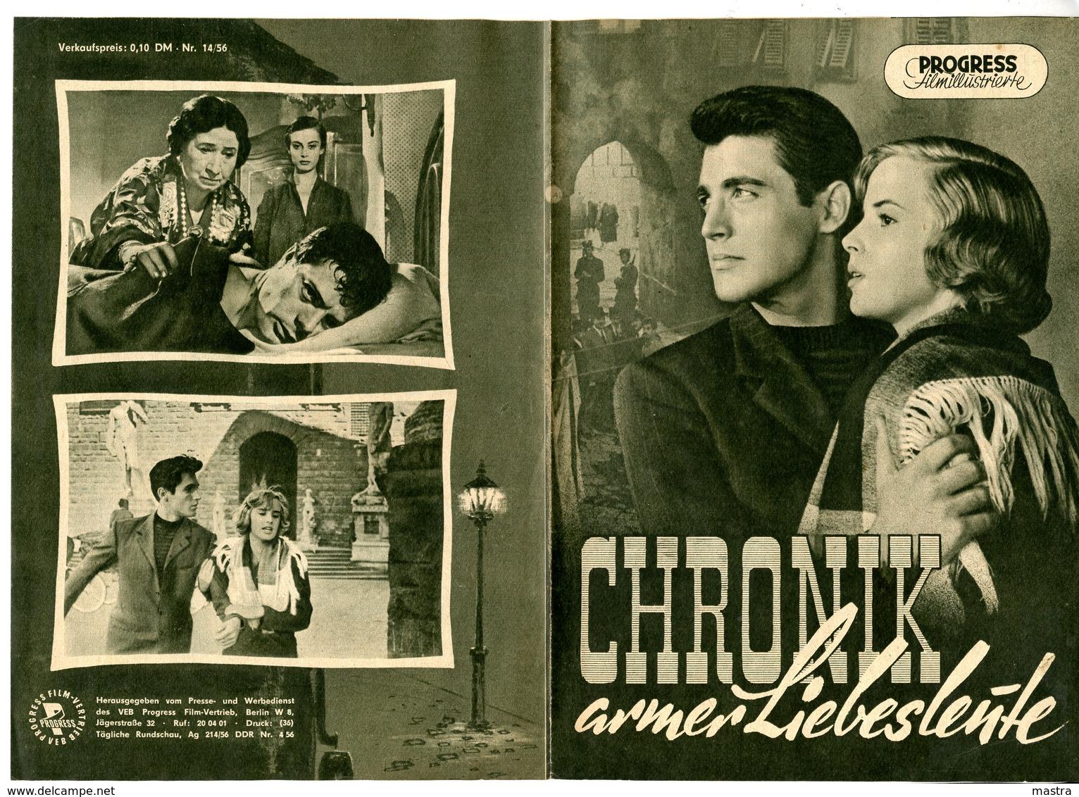 MARCELLO MASTROIANNI 4 East German Film Programs 1956-57 - Film & TV