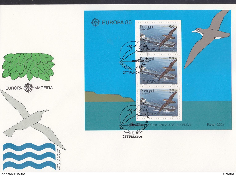 PORTUGAL MADEIRA  Block 7 FDC, EUROPA CEPT 1986, Natur- Und Umweltschutz - Europa-CEPT