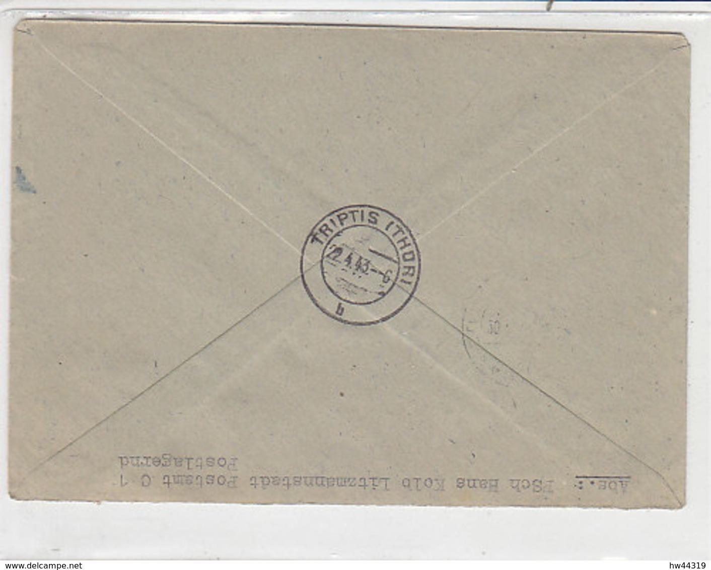 R-Brief Mit Netter Frankatur Aus LITZMANNSTADT C1 20.4.43 Nach Triptis - Deutschland
