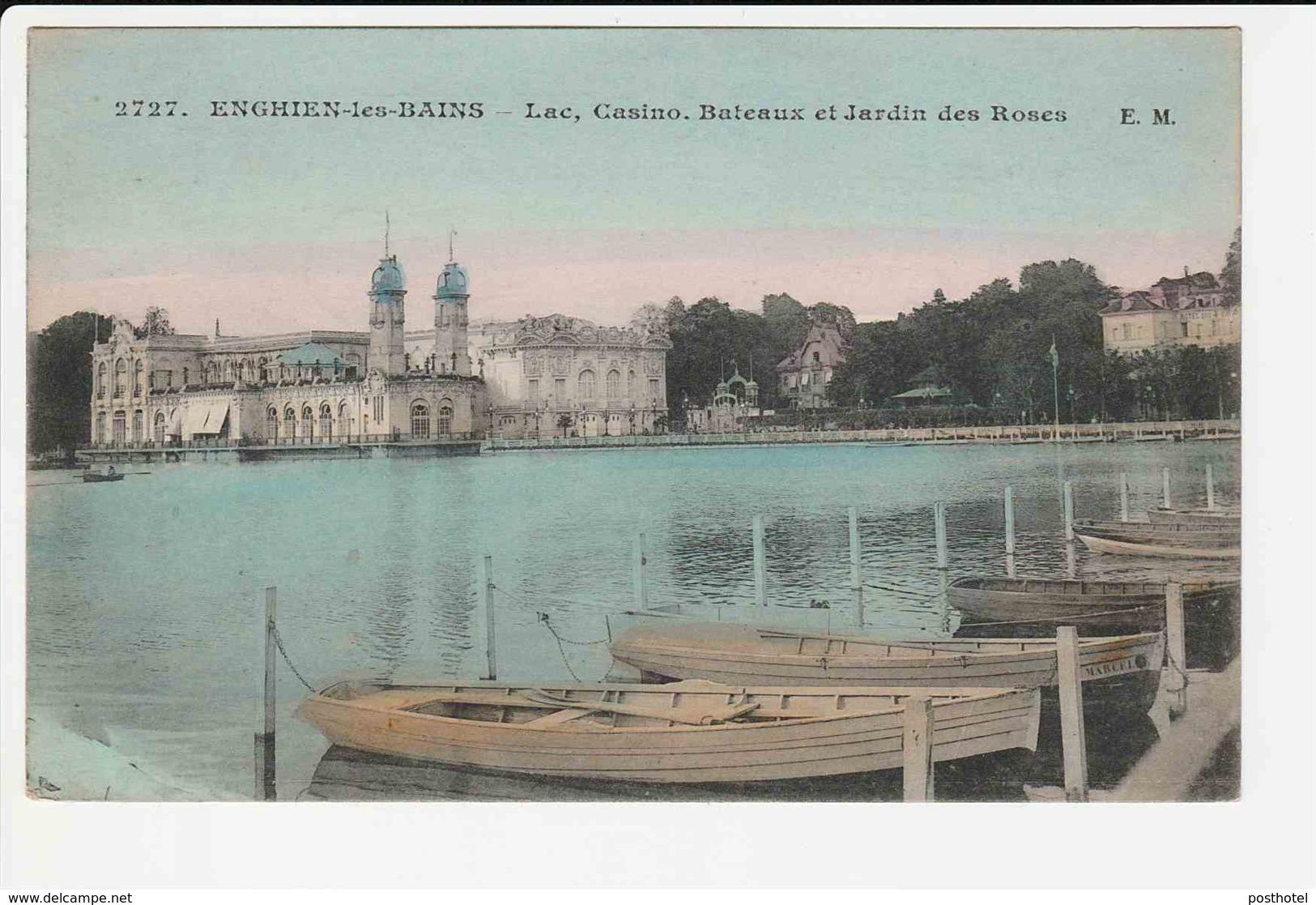 Enghien Les Bains - Lac Casino Bateaux Et Jardin Des Roses - Enghien Les Bains