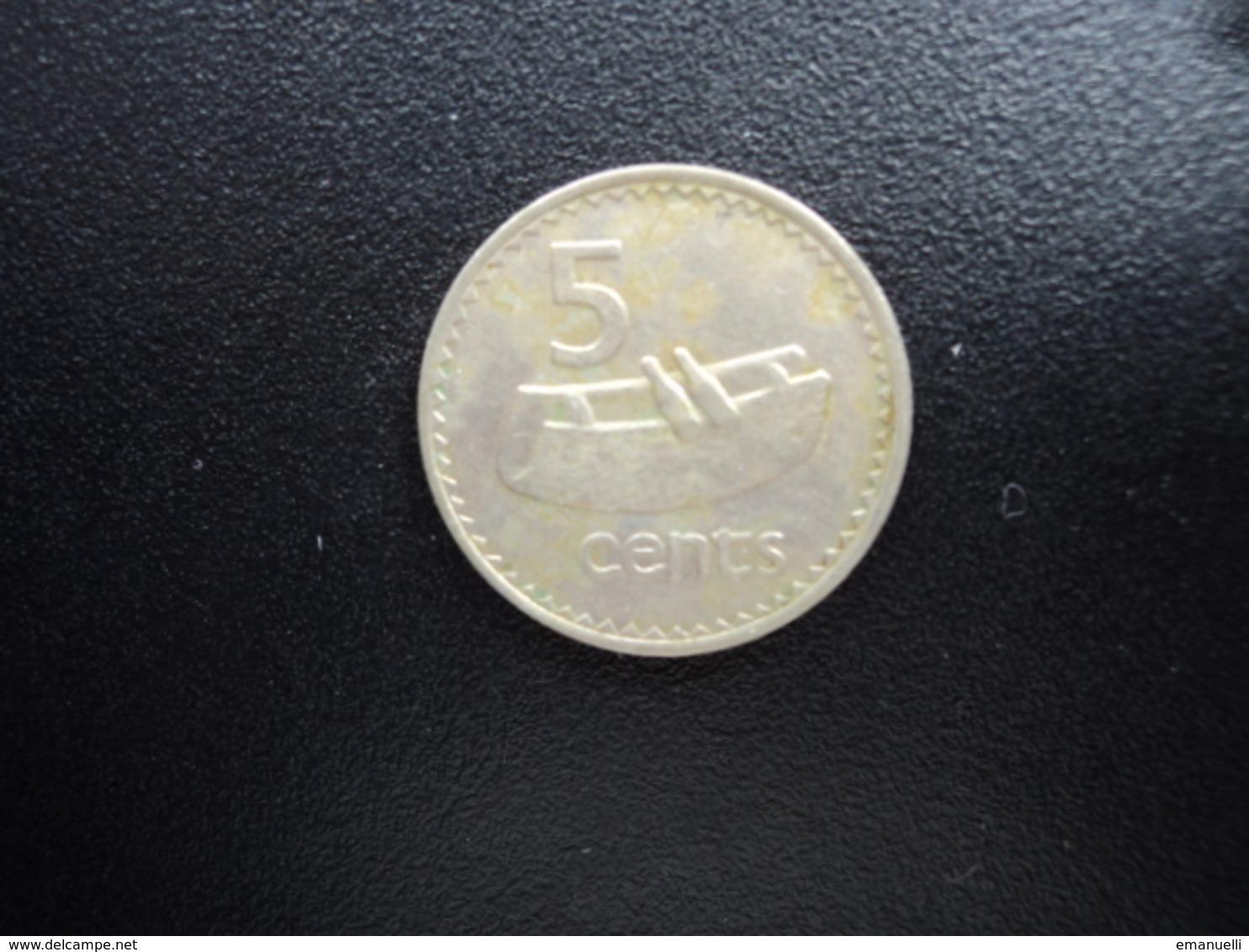 FIDJI : 5 CENTS   1979    KM 29    TTB+ * - Fiji