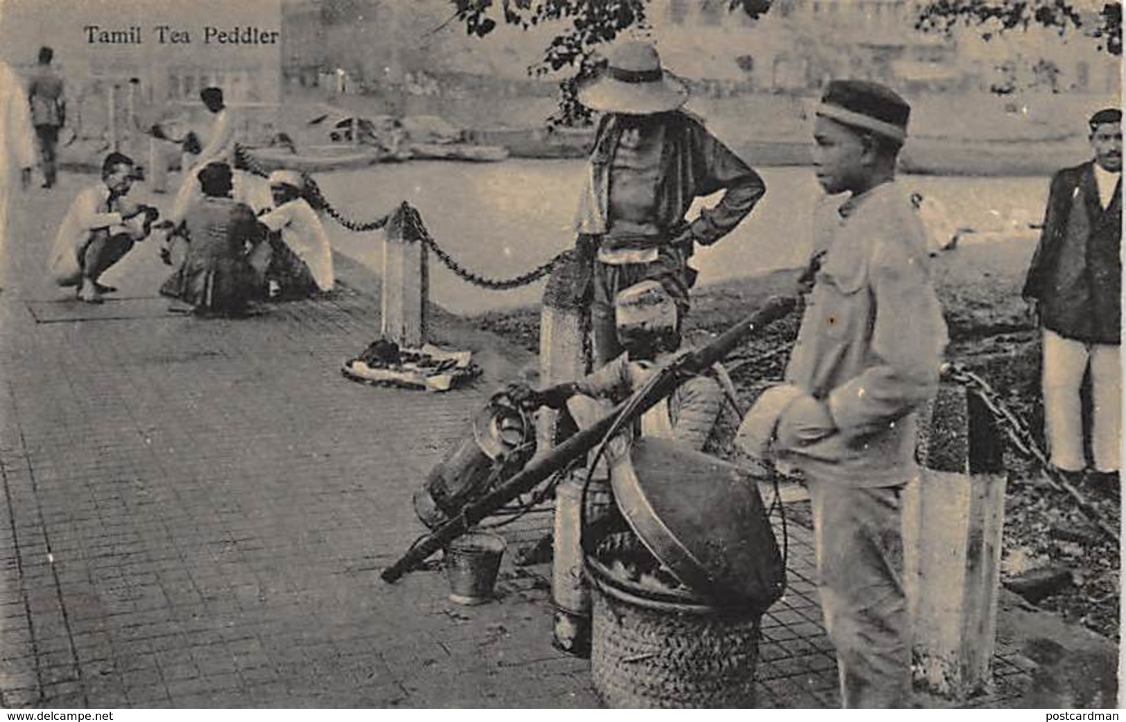 Singapore - Tamil Tea Peddler - Publ. Unknown. - Singapore