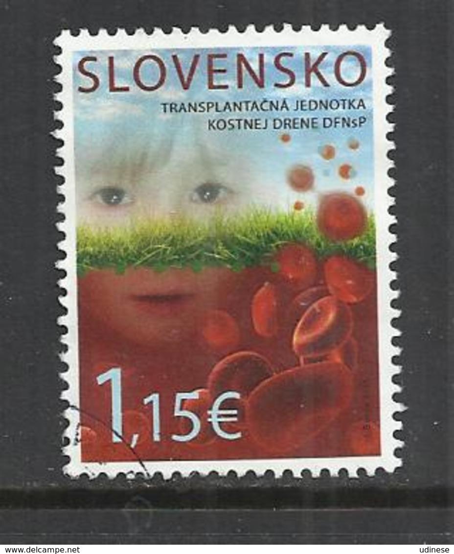 SLOVAKIA 2015 - THE BONE MARROW TRANSPLANT UNIT OF THE UCHC - OBLITERE USED GESTEMPELT USADO - Slovakia