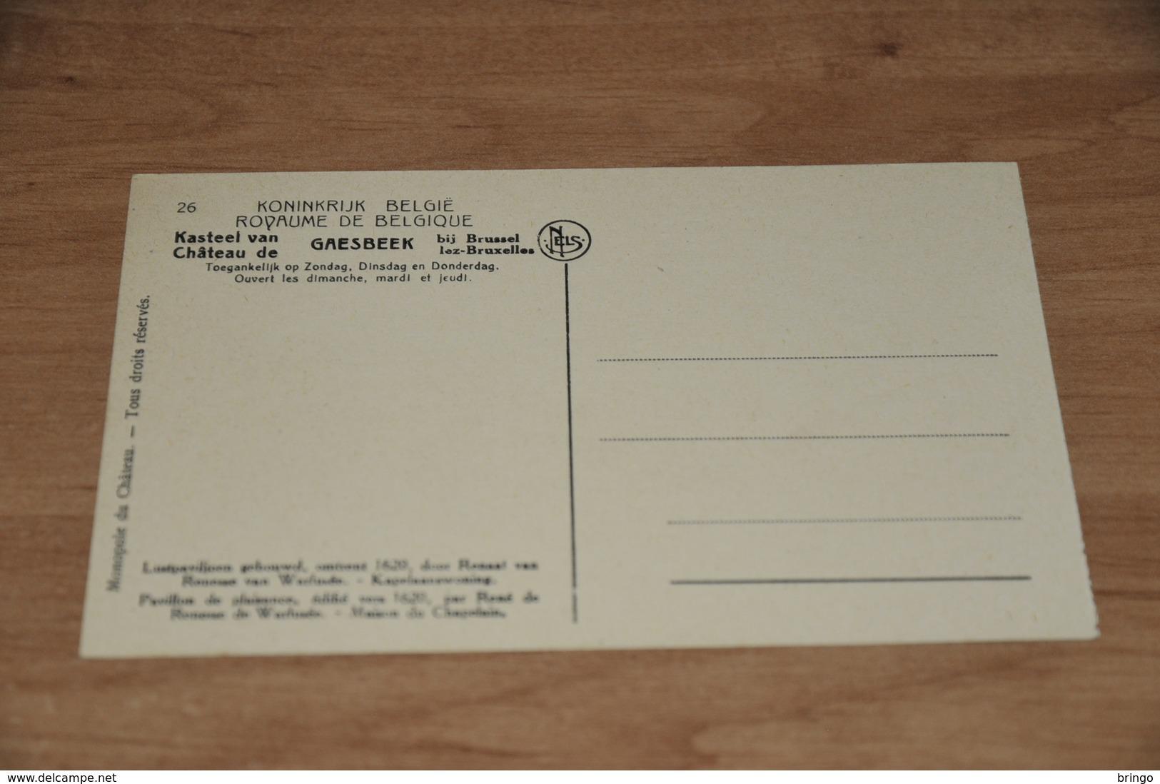 9212-     LE CHATEAU DE GAESBEEK, PAVILLON DE PLAISANCE - Lennik
